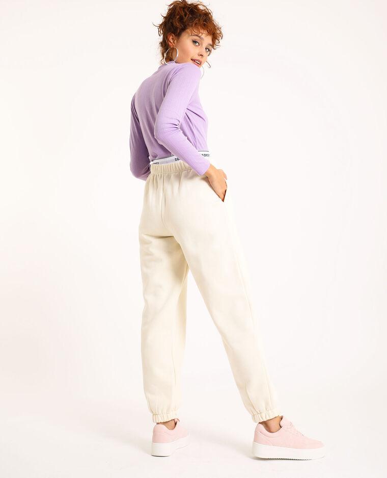Pantalon molleton beige ficelle