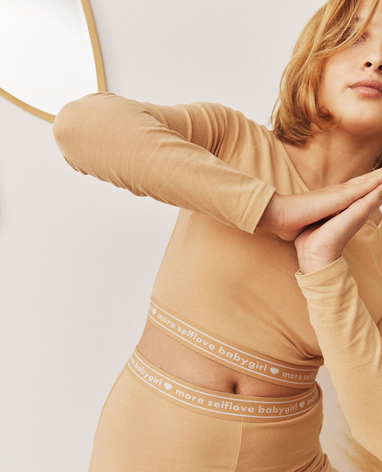 Cropped top loungewear beige - Pimkie
