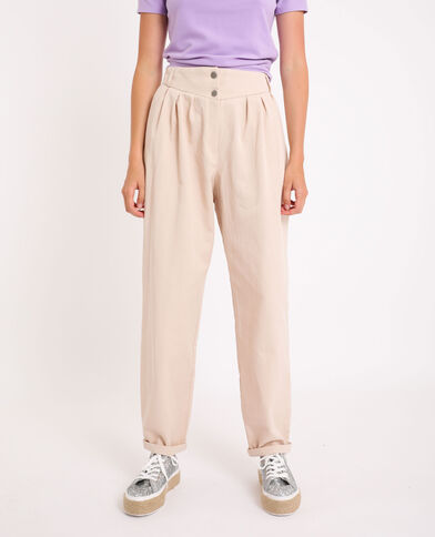 Pantalon slouchy beige