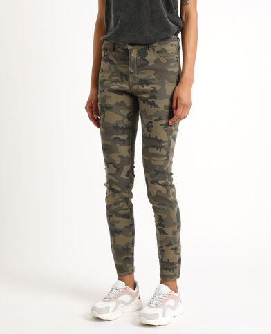 02a79a710675f Pantalon skinny camouflage vert