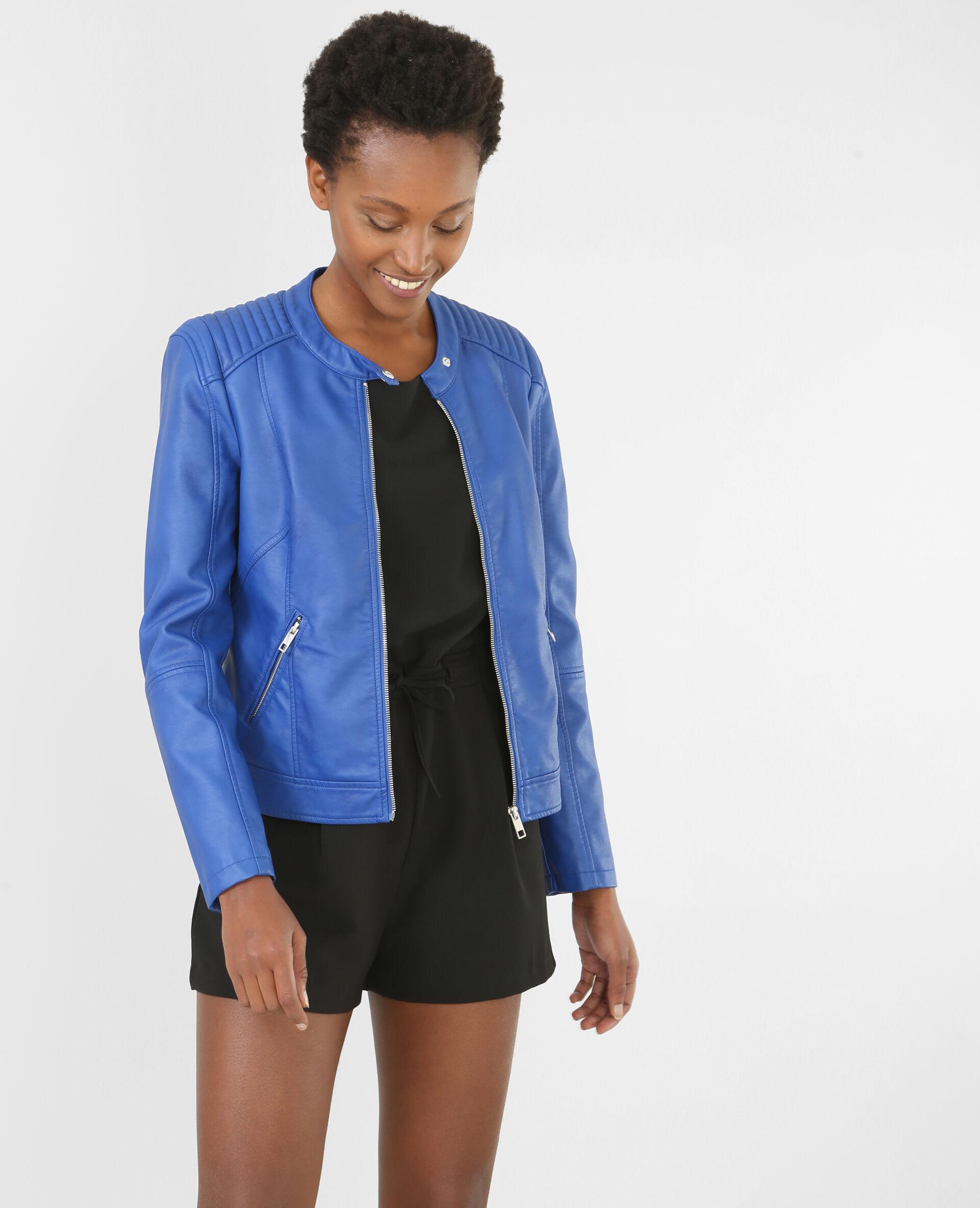 ?veste biker femme couleur bleu taille 40 pimkie mode femme