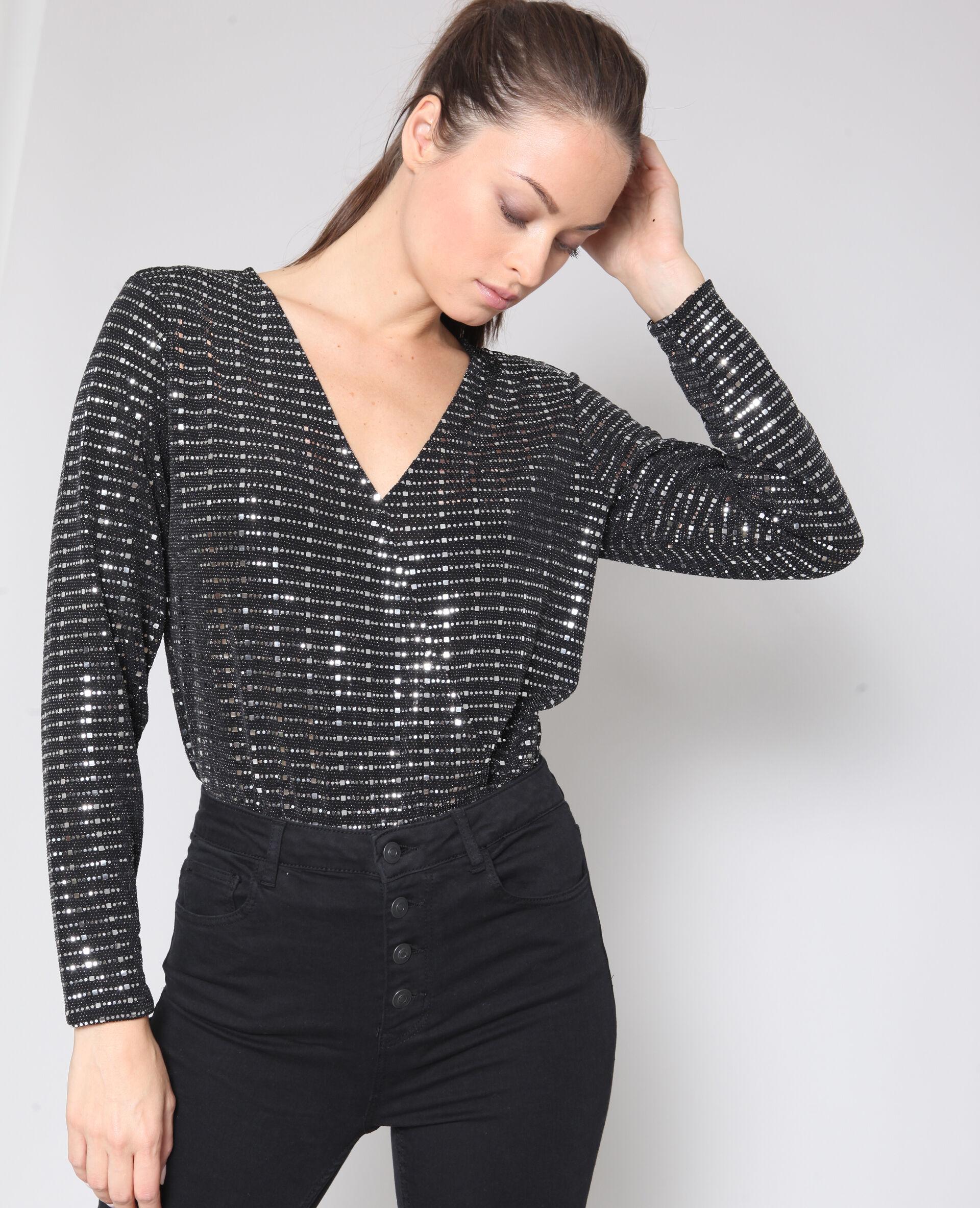 Soldes Body à sequins Femme -40% - Couleur noir - Taille M - PIMKIE - Mode Femme