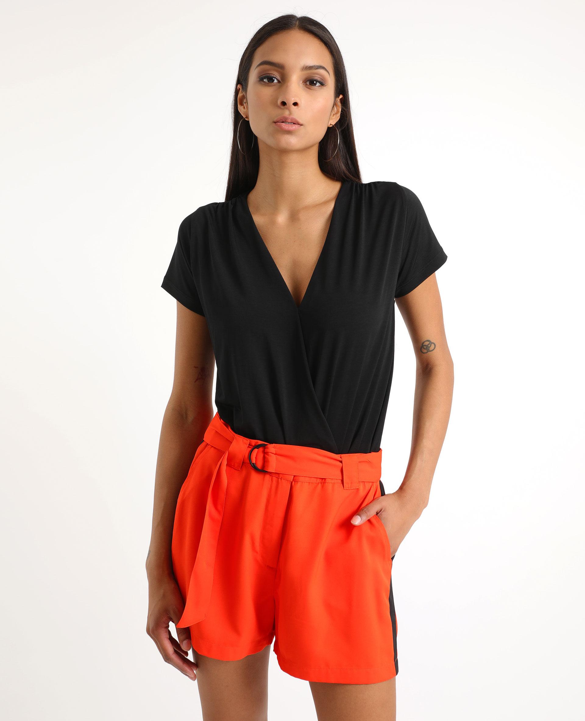 Body à manches courtes Femme - Couleur noir - Taille XS - PIMKIE - MODE FEMME