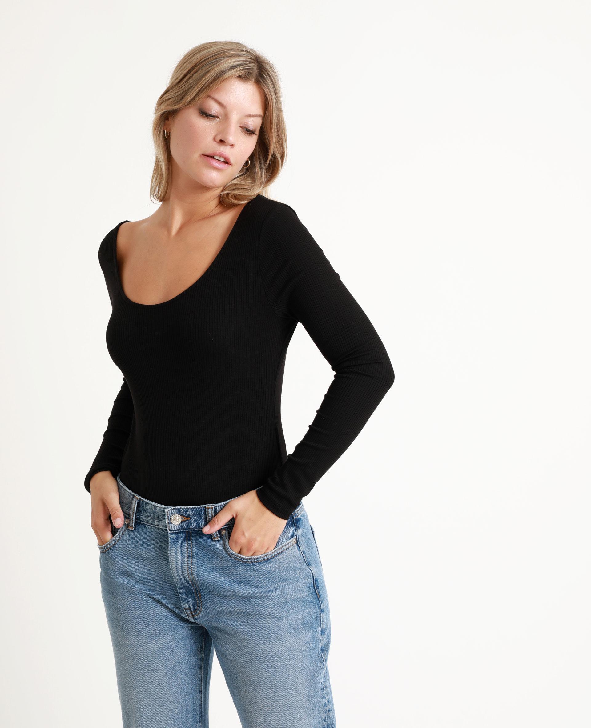 Body à manches longues Femme - Couleur noir - Taille XS - PIMKIE - MODE FEMME