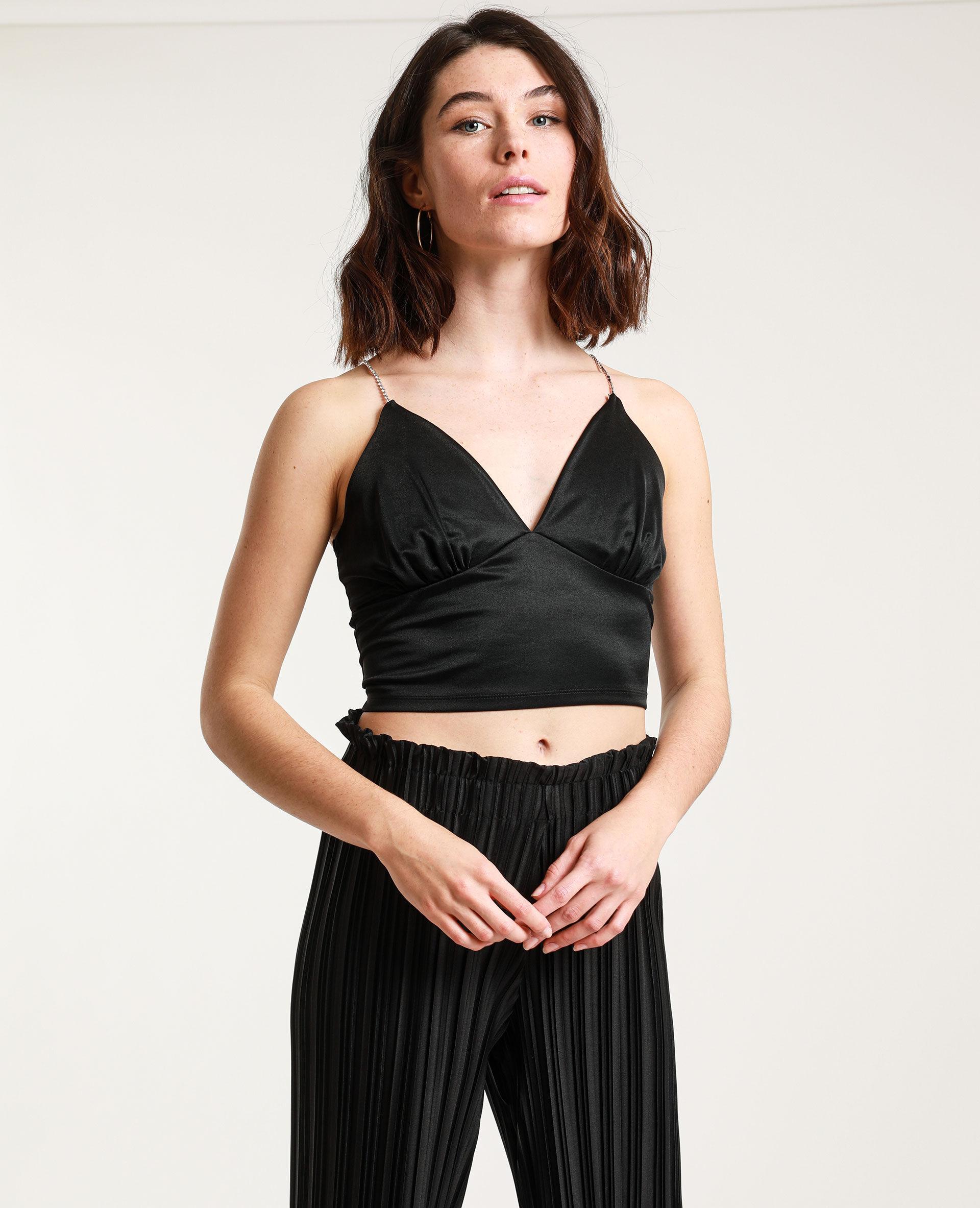 Brassière à strass Femme - Couleur noir - Taille XS - PIMKIE - MODE FEMME