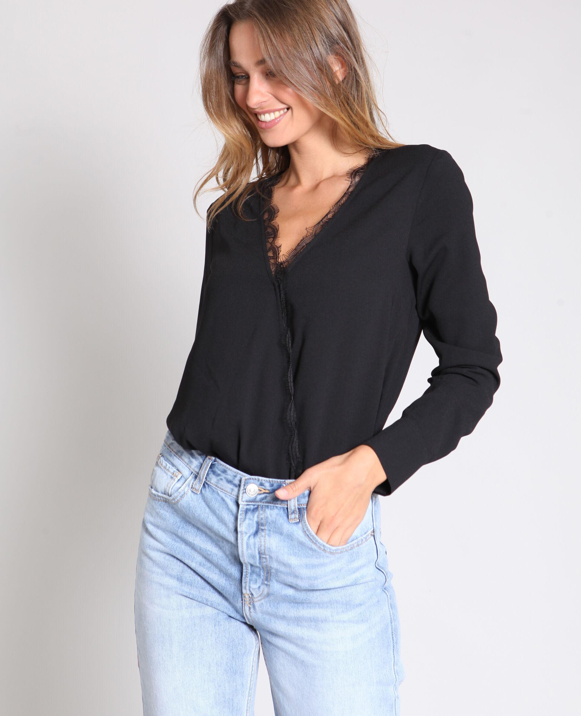 Soldes Body chemisier Femme -50% - Couleur noir - Taille S - PIMKIE - Mode Femme