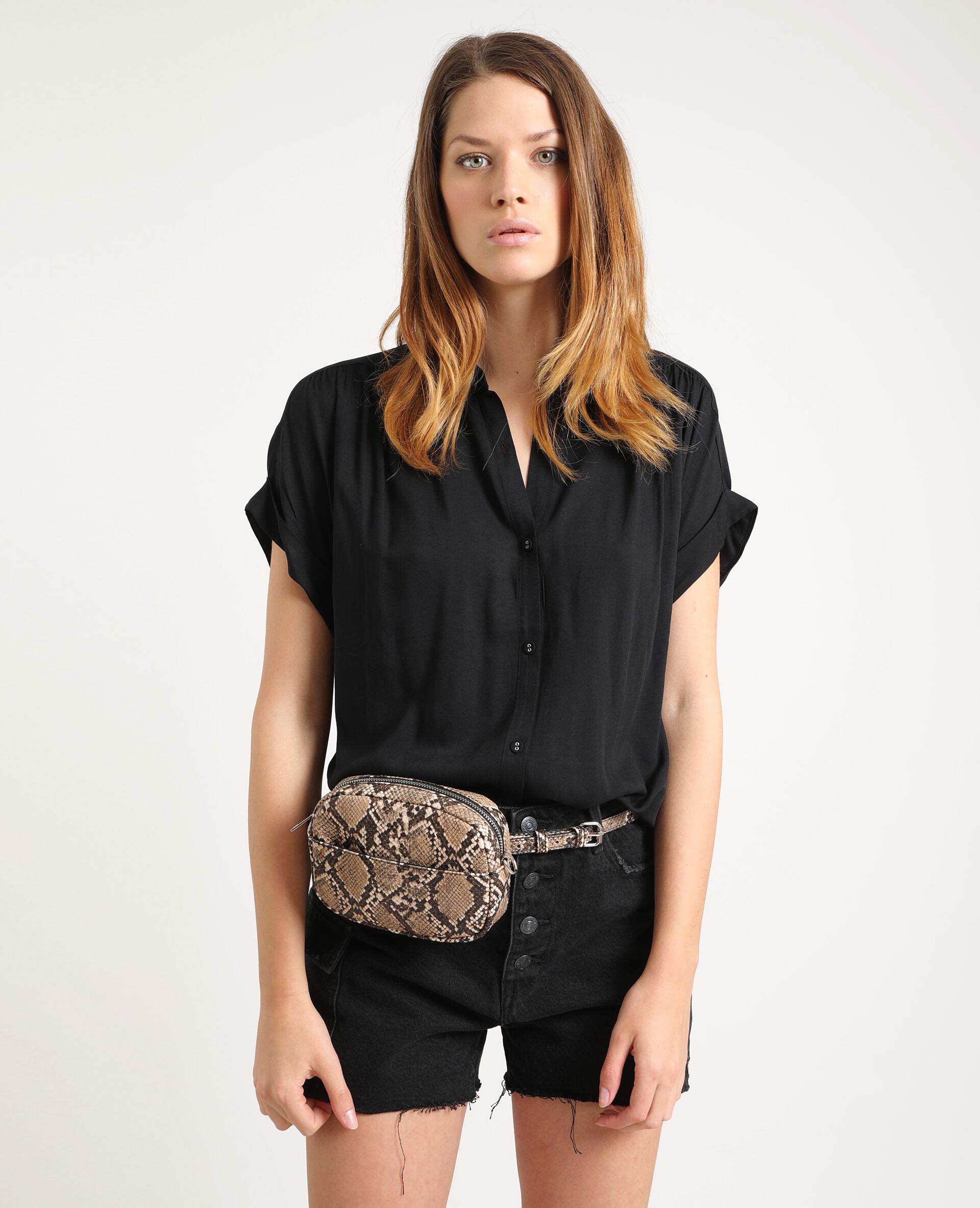 Chemise à manches courtes Femme - Couleur noir - Taille 44 - PIMKIE - MODE FEMME