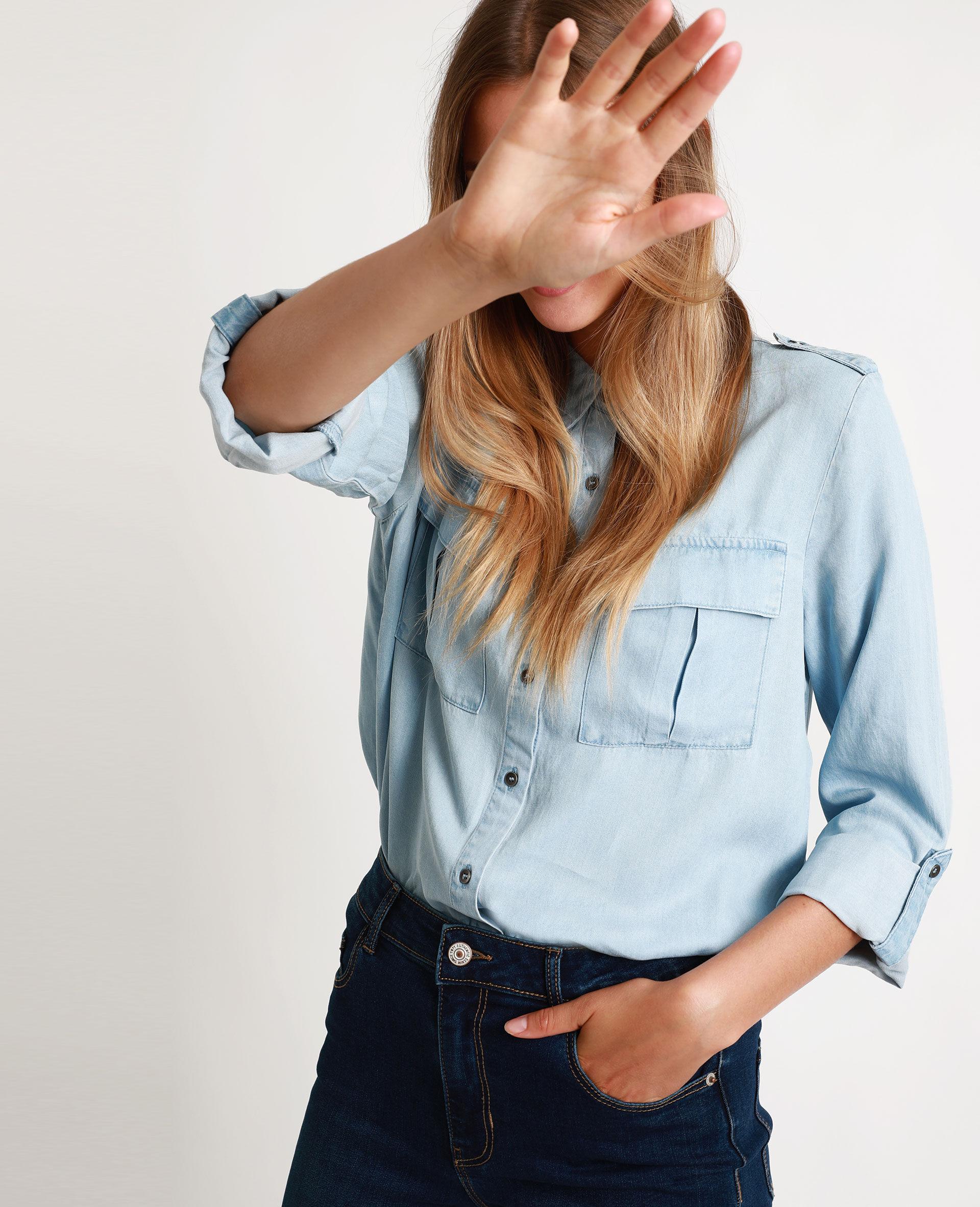 Chemise en jean Femme - Couleur bleu clair - Taille 40 - PIMKIE - MODE FEMME