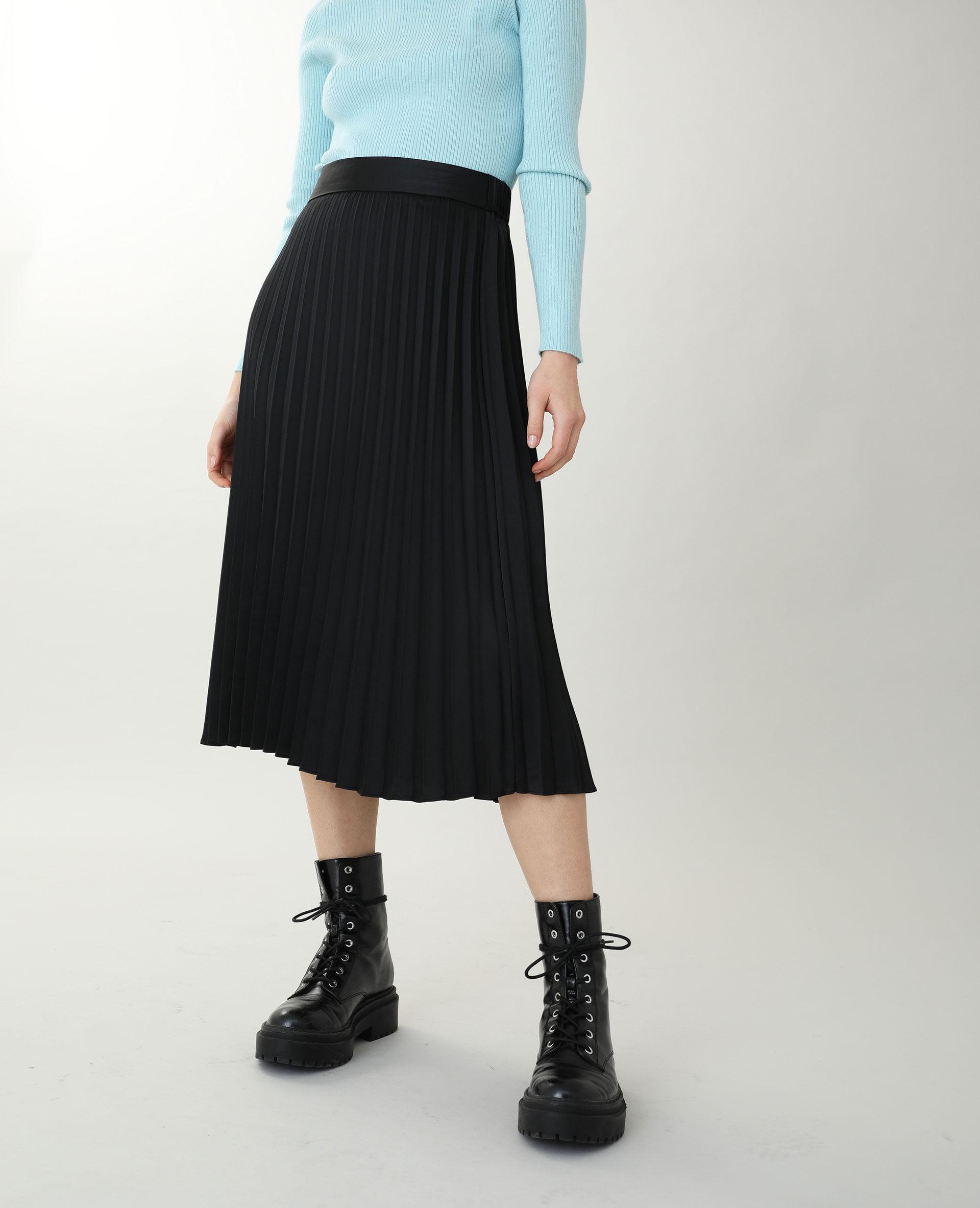 Jupe longue plissée Femme - Couleur noir - Taille L - PIMKIE - MODE FEMME
