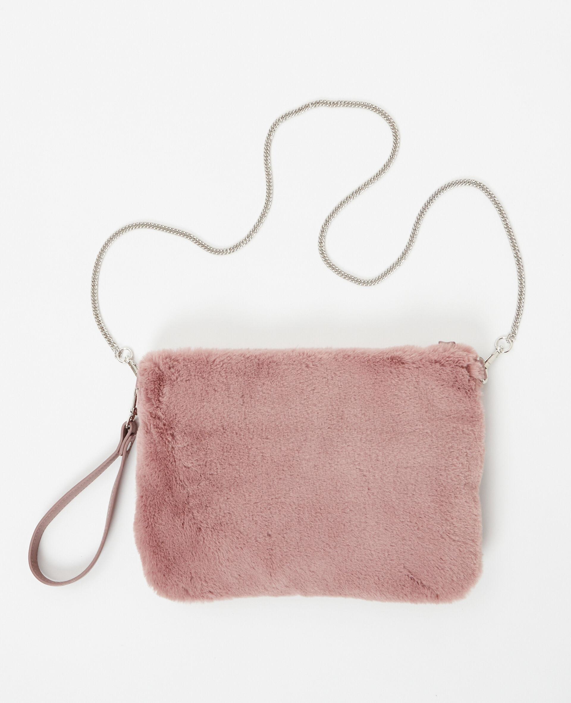 grand sac pochette en fausse fourrure femme couleur rose pimkie mode femme 26a4e44c8695