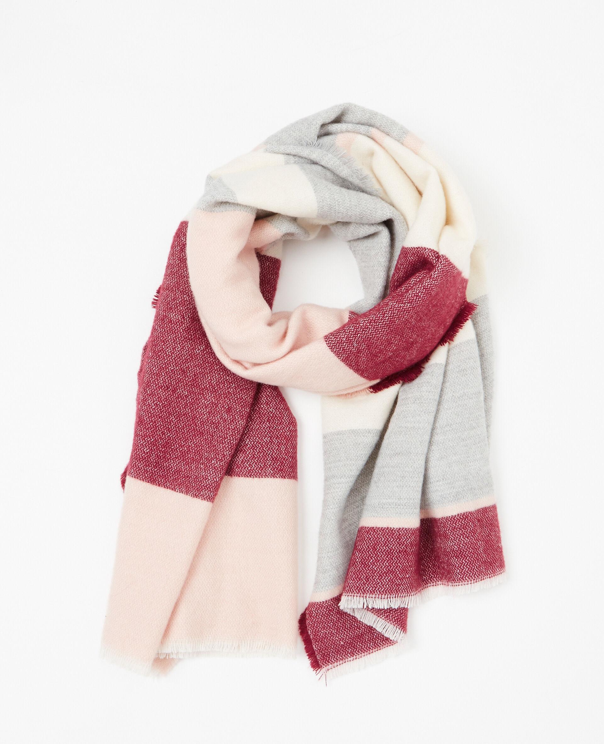 29d9e54fd87  echarpe plaid à bandes femme couleur rose pâle  strong pimkie  strong