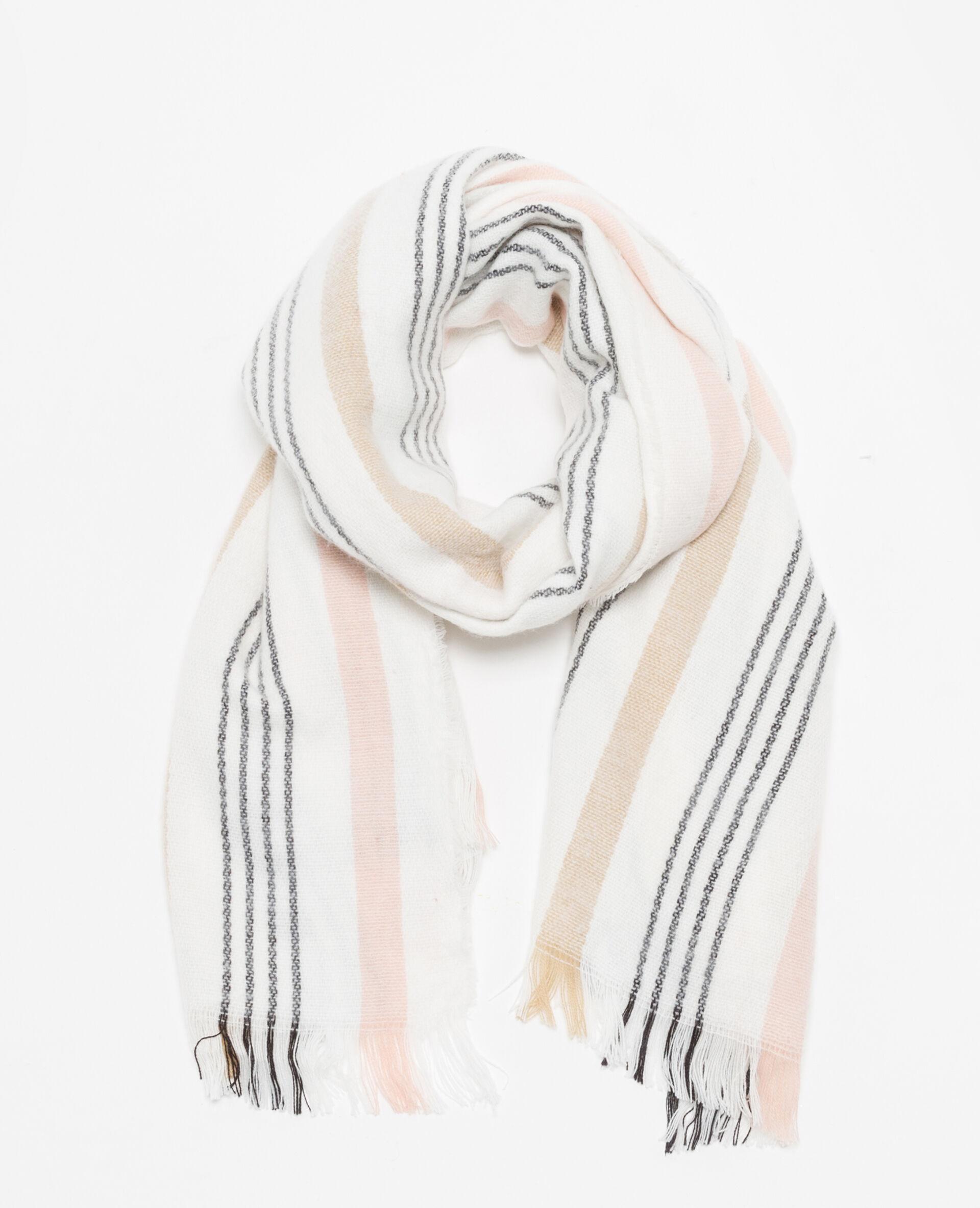 8bdaf591cb5 Echarpe à rayures femme 40 couleur blanc  strong pimkie  strong  mode