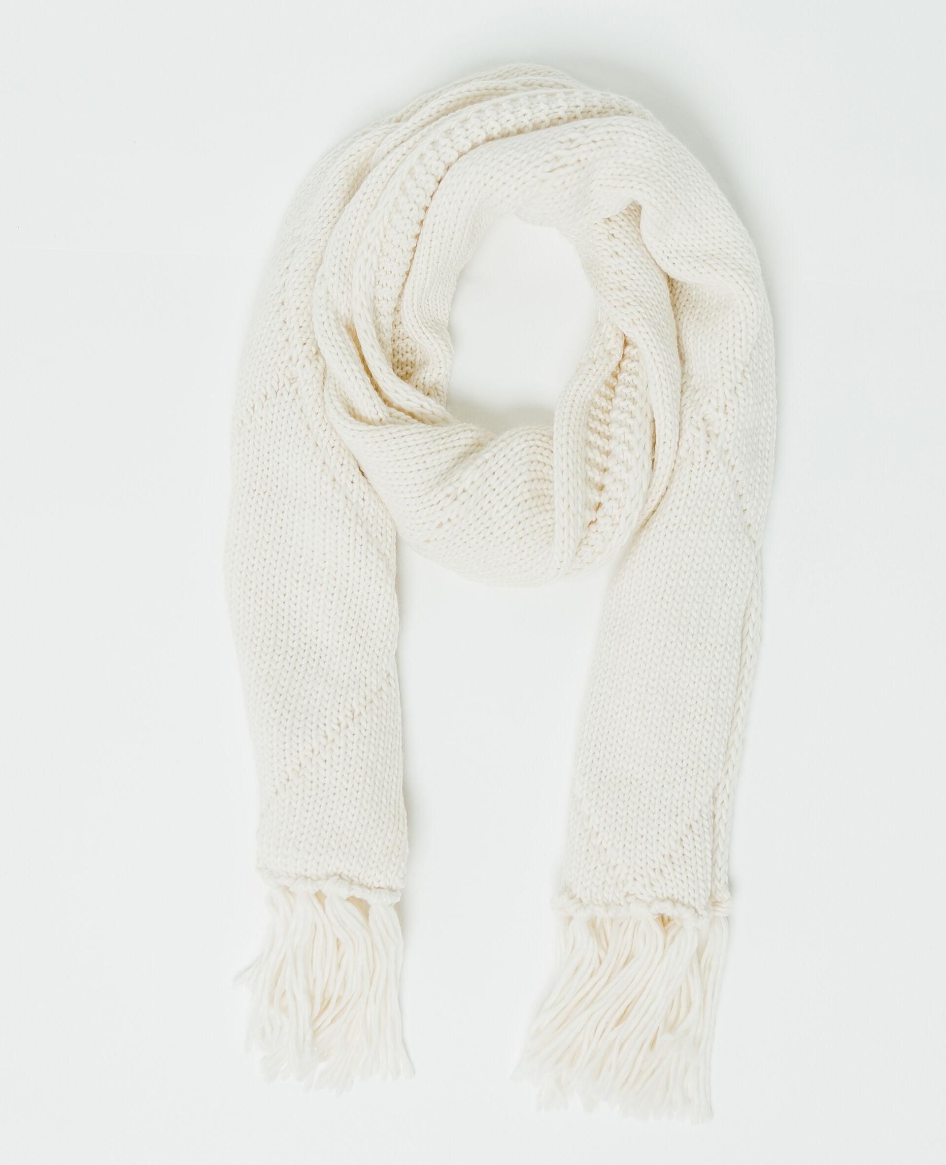 f4ab83594d74 ✅Echarpe à torsades Femme - Couleur blanc cassé - PIMKIE - MODE FEMME