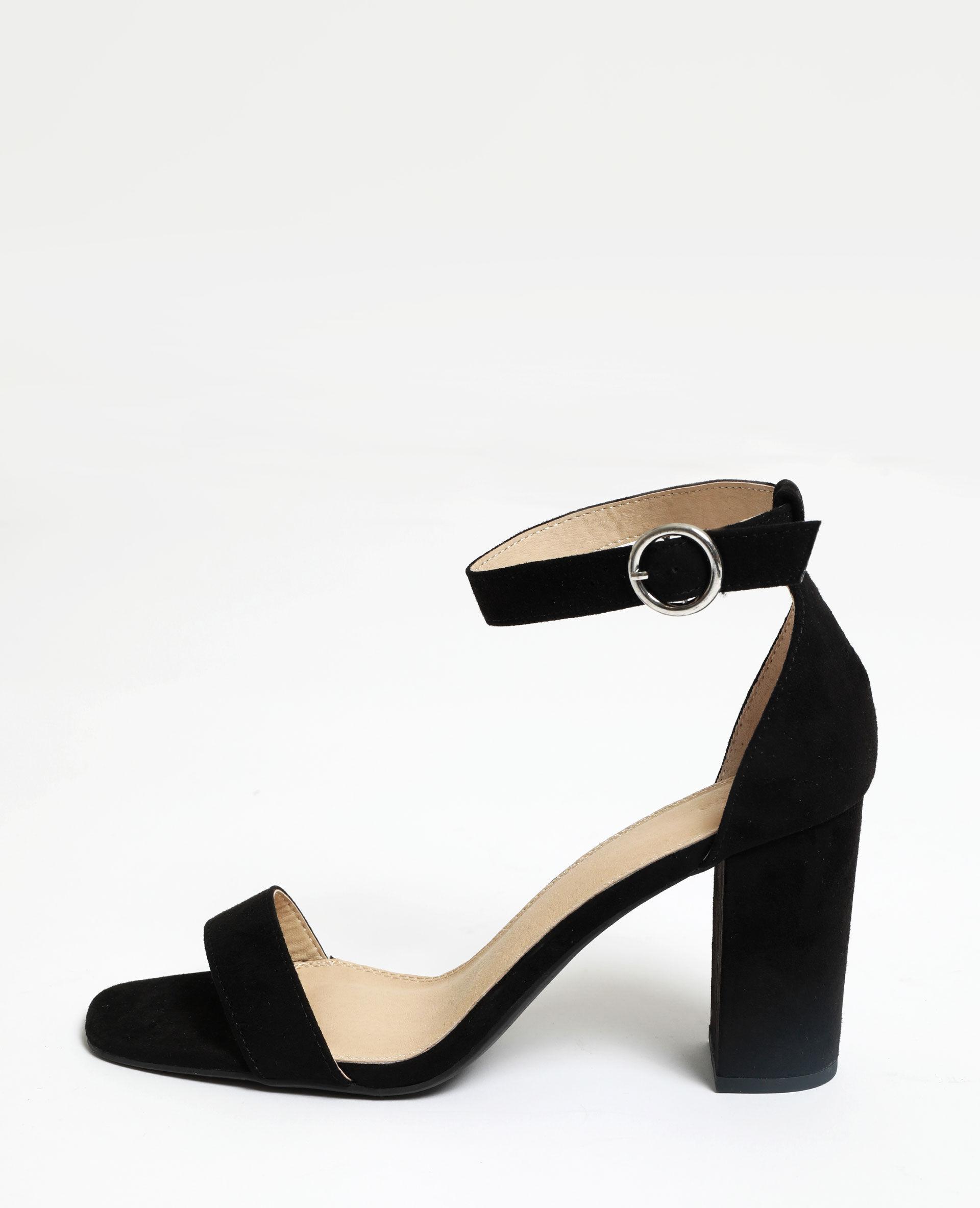 Sandales à talons microfibre Femme - Couleur noir - PIMKIE - MODE FEMME