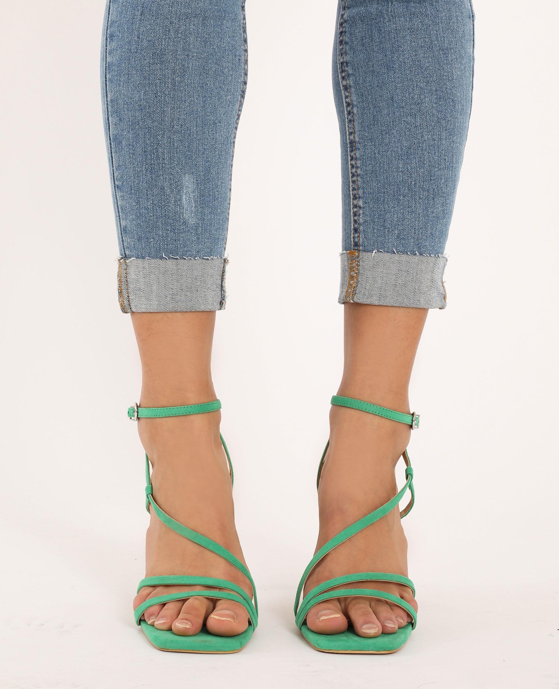 Sandales à talons Femme - Couleur vert - PIMKIE - MODE FEMME