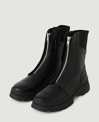 Boots zippées devant noir - Pimkie