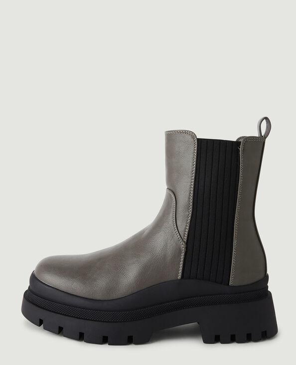 Boots semelles crantées gris - Pimkie