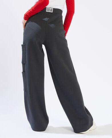 Pantalon molleton large noir - Pimkie
