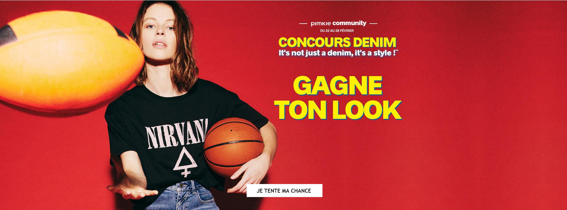 Concours Denim jusqu'au 28 mars gagne ton look