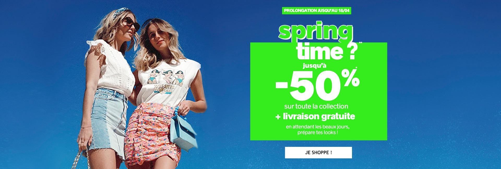 SPRING TIME ?  -30% dès 50€ d'achat