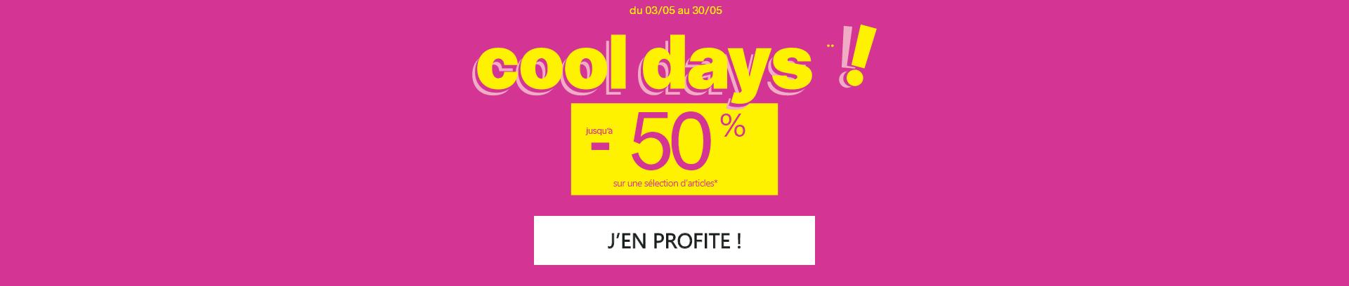 Cooldays - Jusqu'à - 50% sur une sélection d'articles - Pimkie