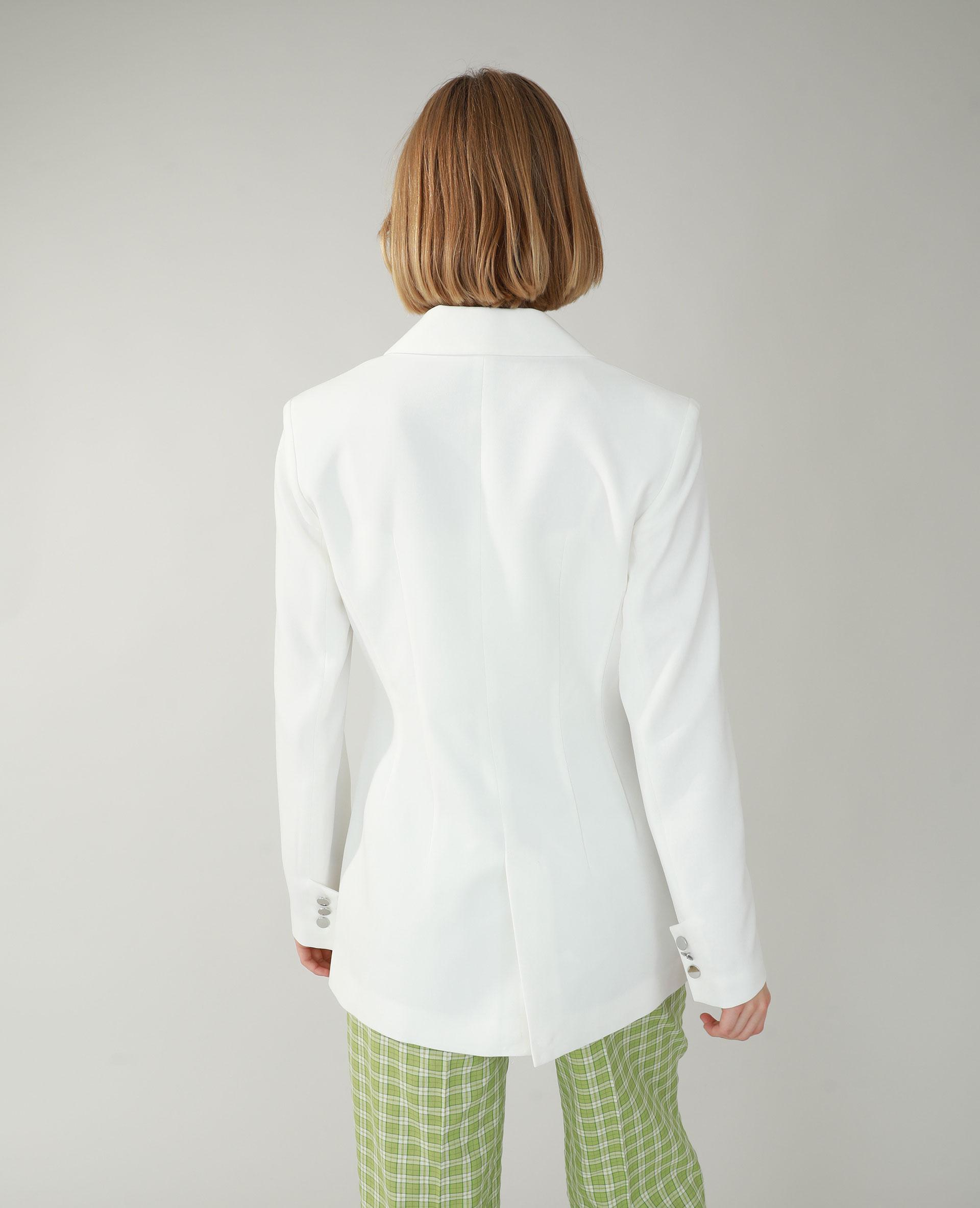 Veste longue blanc - Pimkie