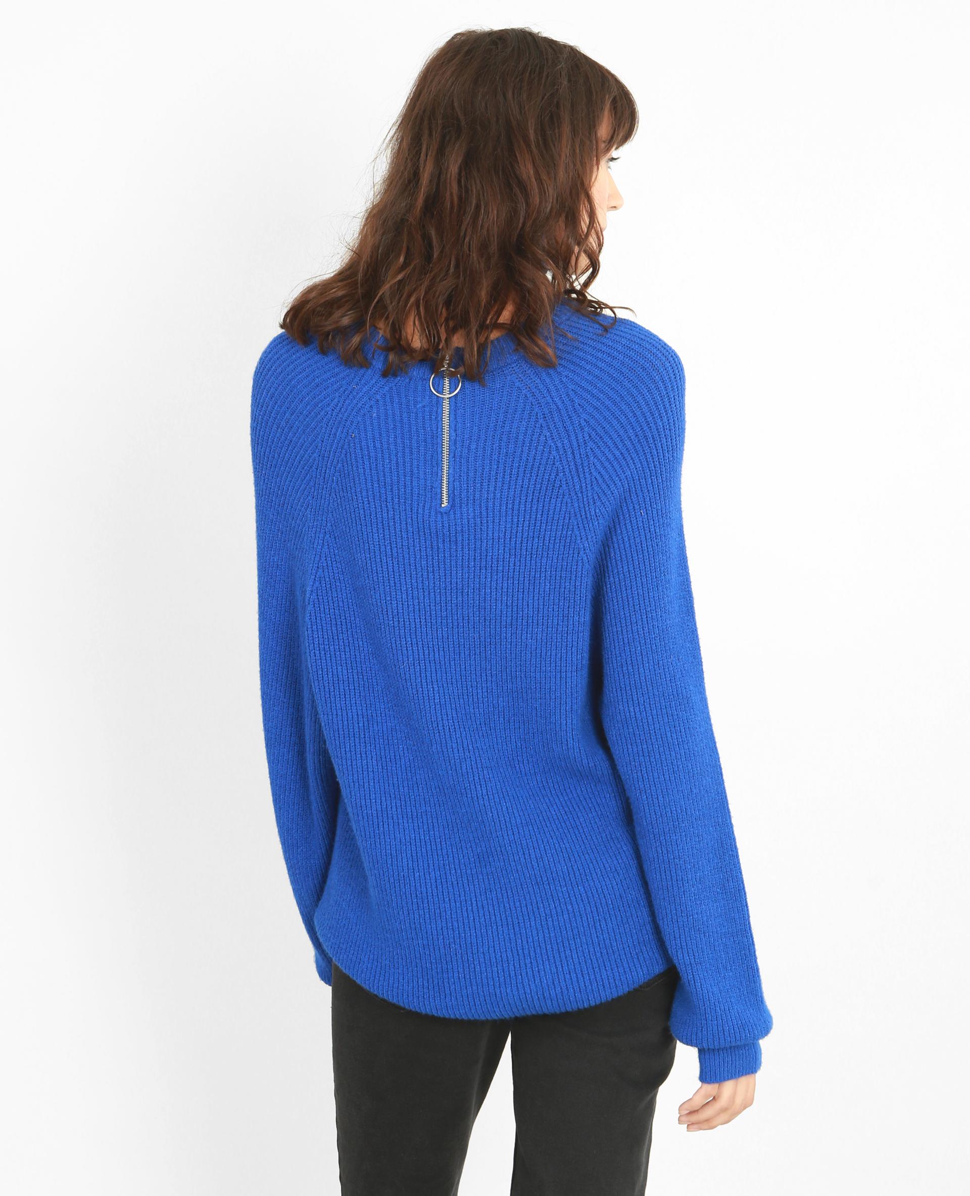 Pull long bleu électrique - Pimkie