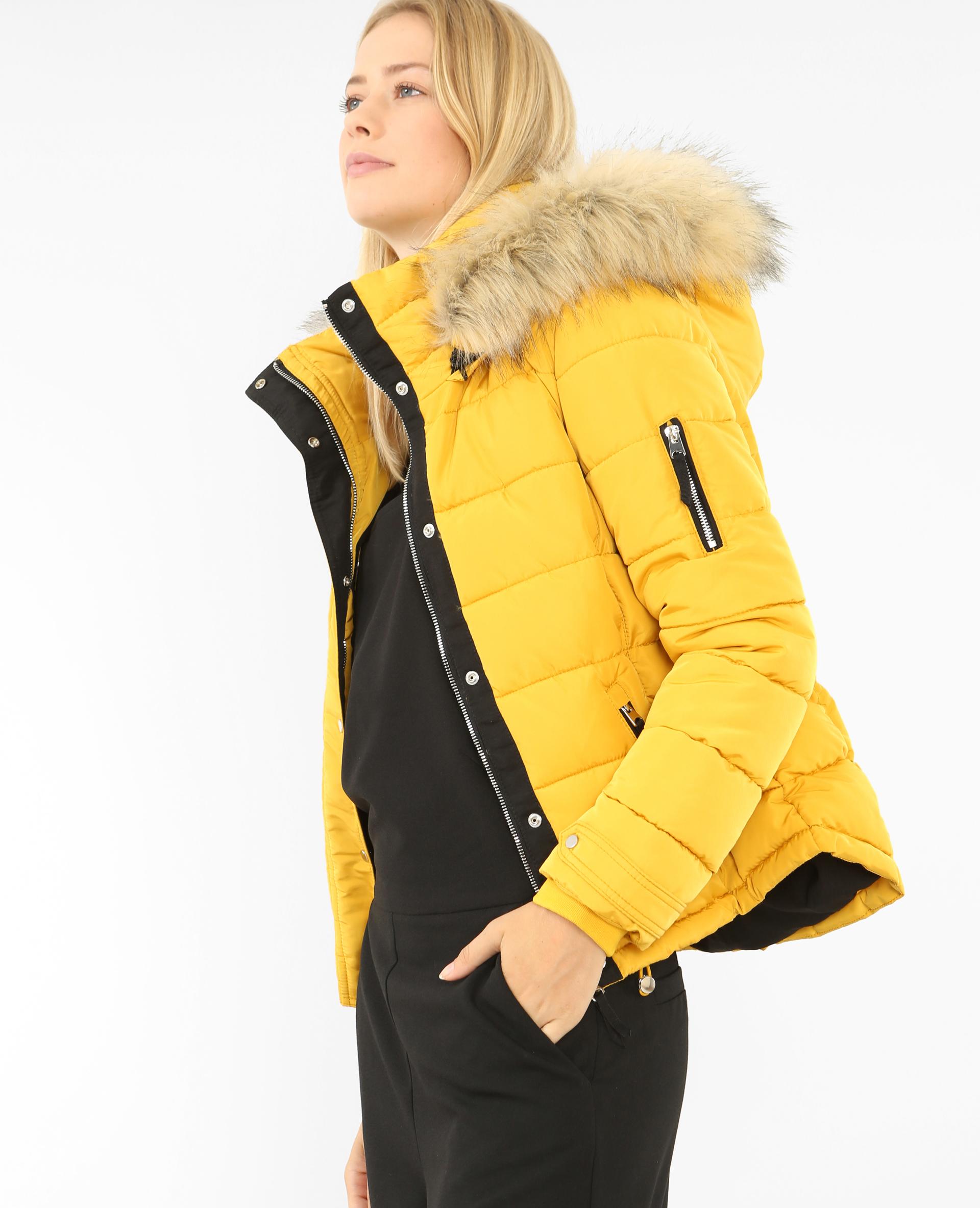Pimkie veste en cuir jaune