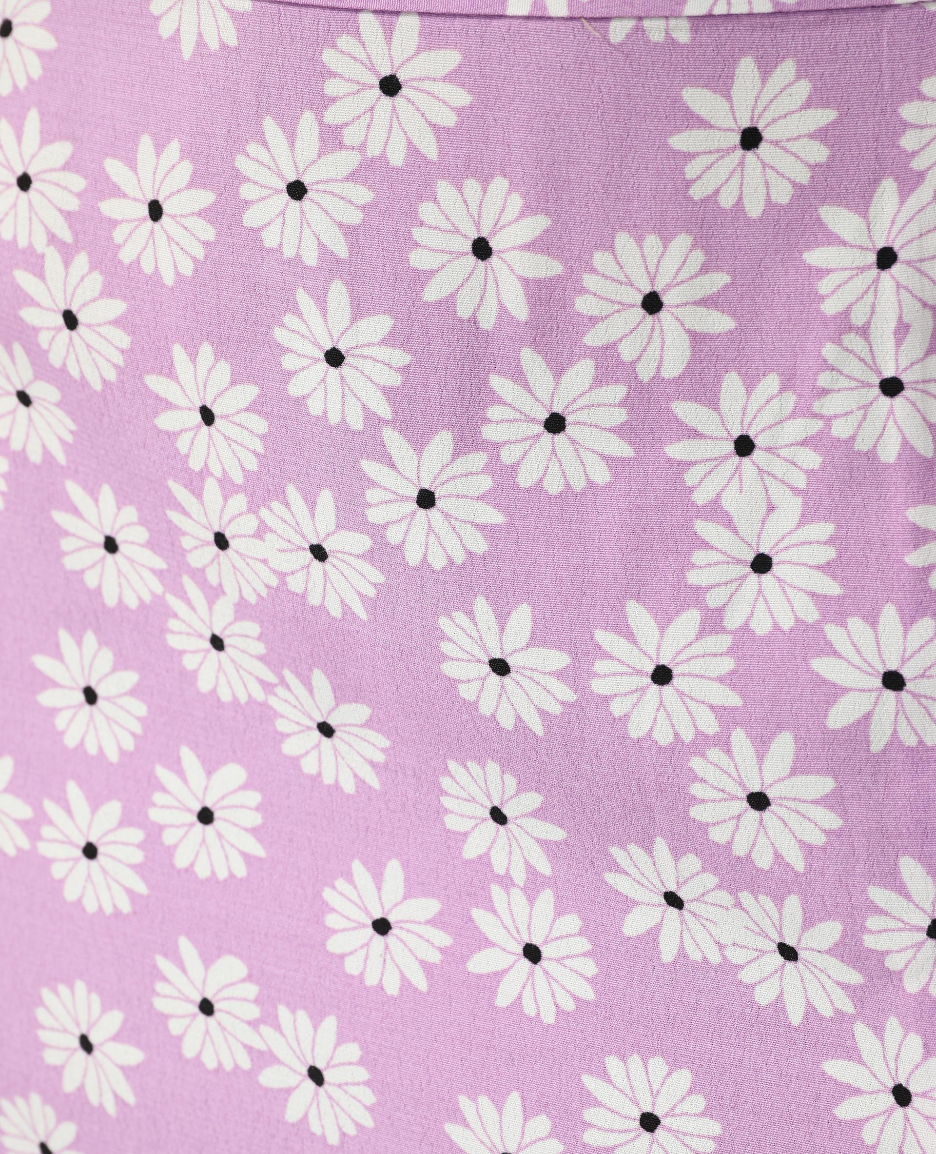 Jupe midi fleurie et fendue violet - Pimkie