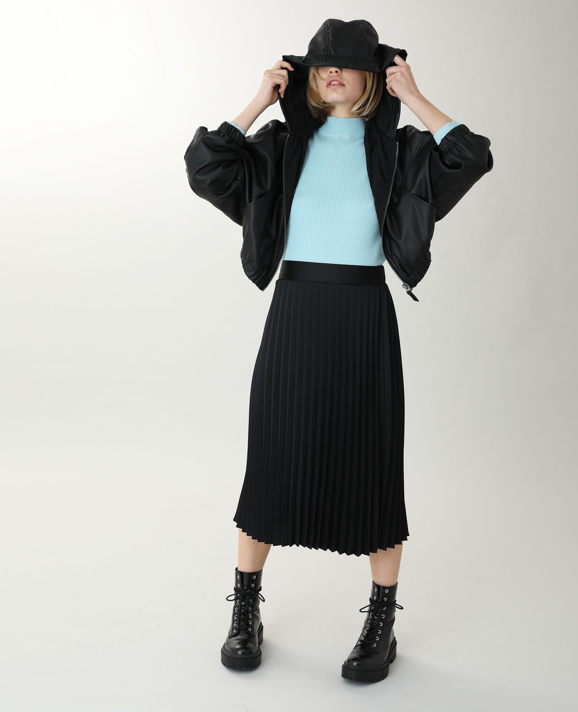 Jupe longue plissée noir - Pimkie