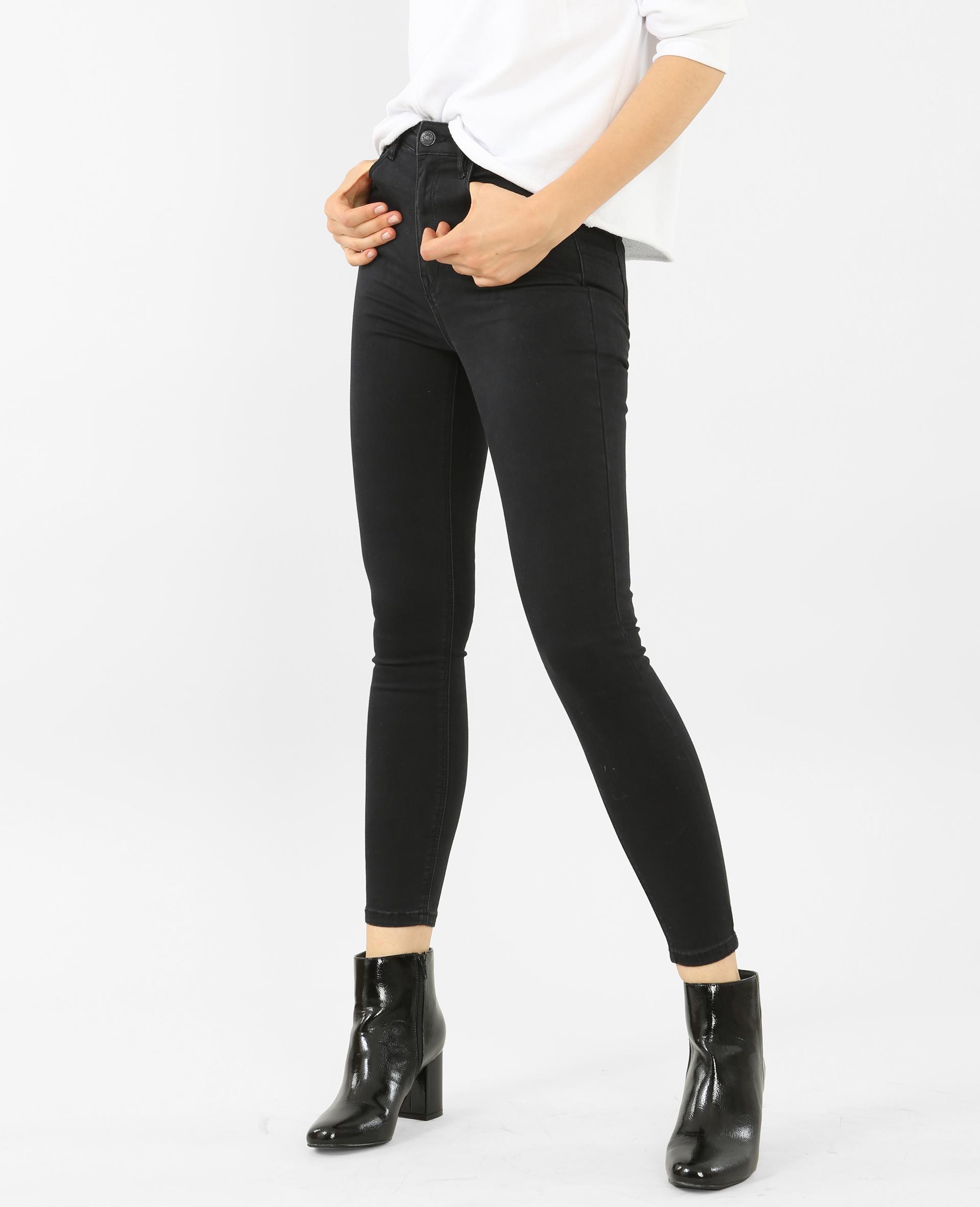 jean skinny taille haute noir 140361899a08 pimkie. Black Bedroom Furniture Sets. Home Design Ideas