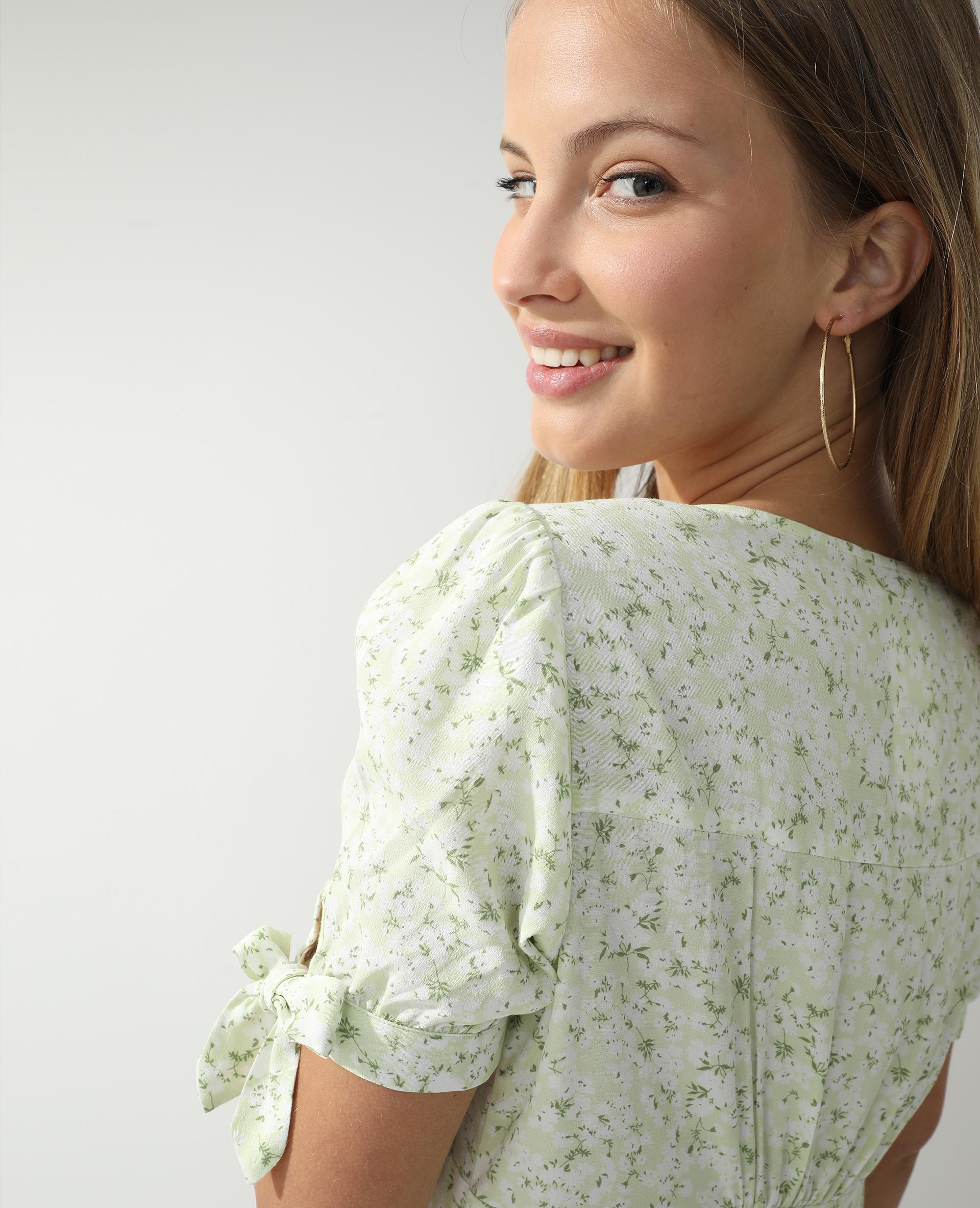 Robe fleurie vert - Pimkie