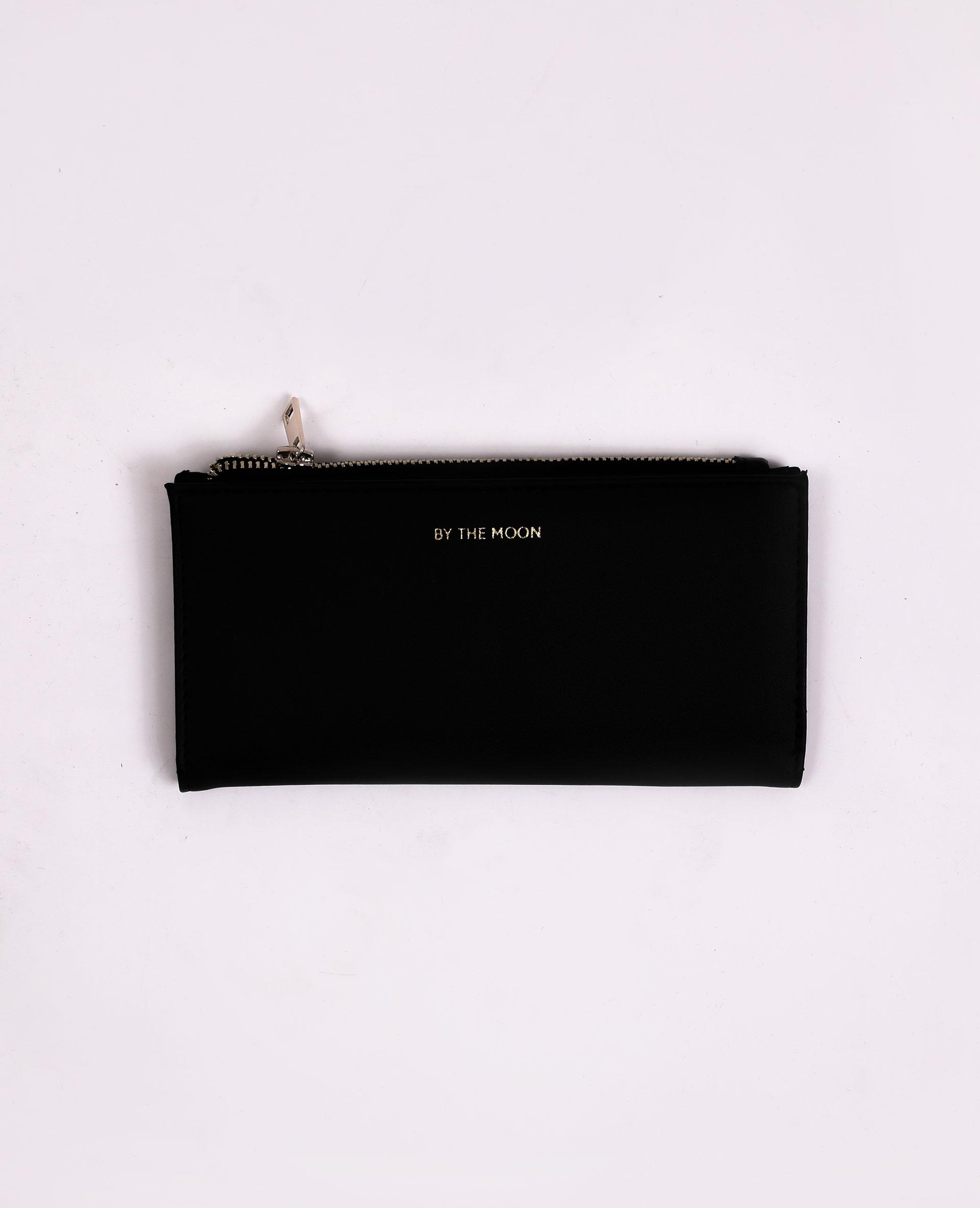 Portefeuille en faux cuir noir - Pimkie