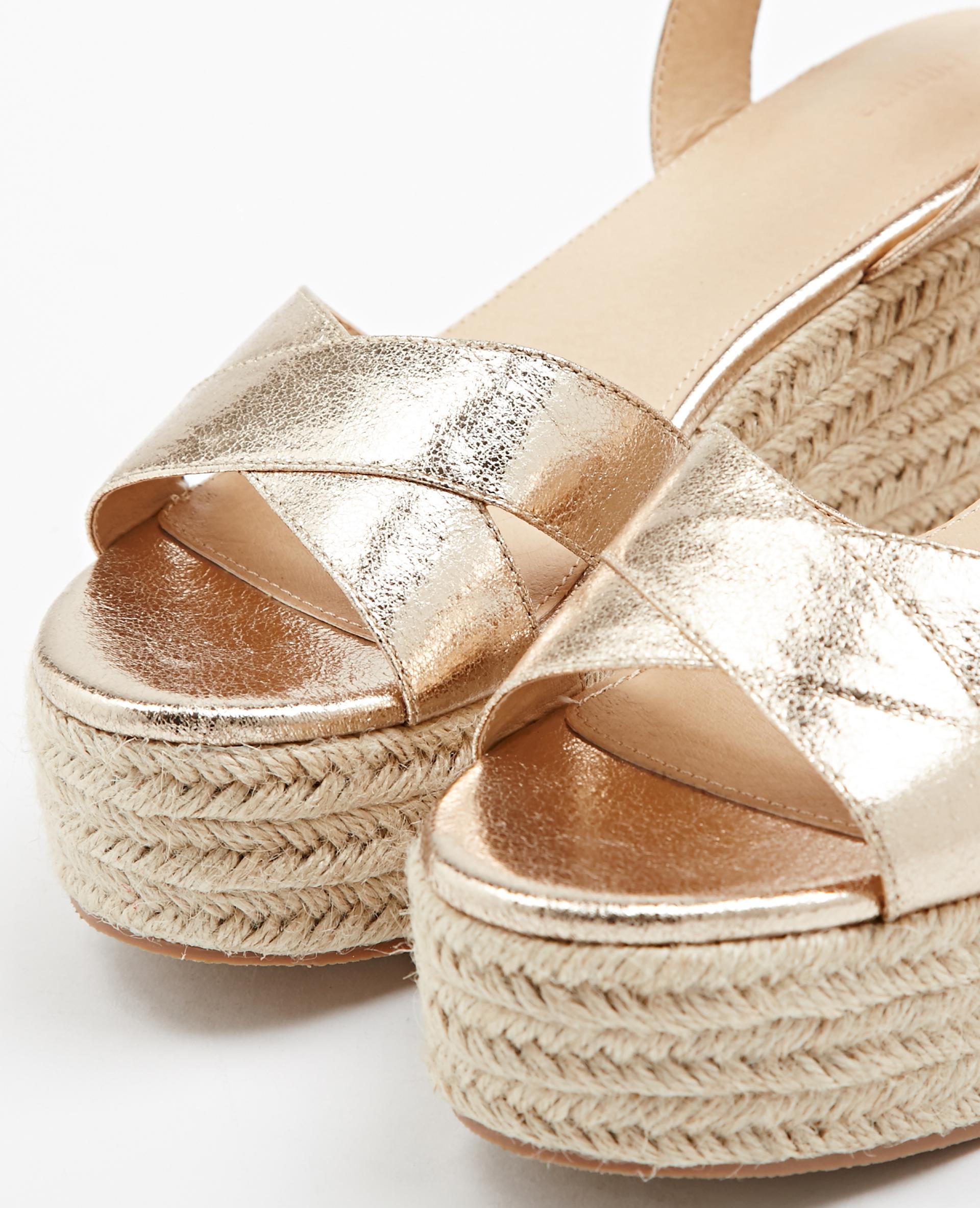 Sandales Compensées Doré 916490099a0g Pimkie