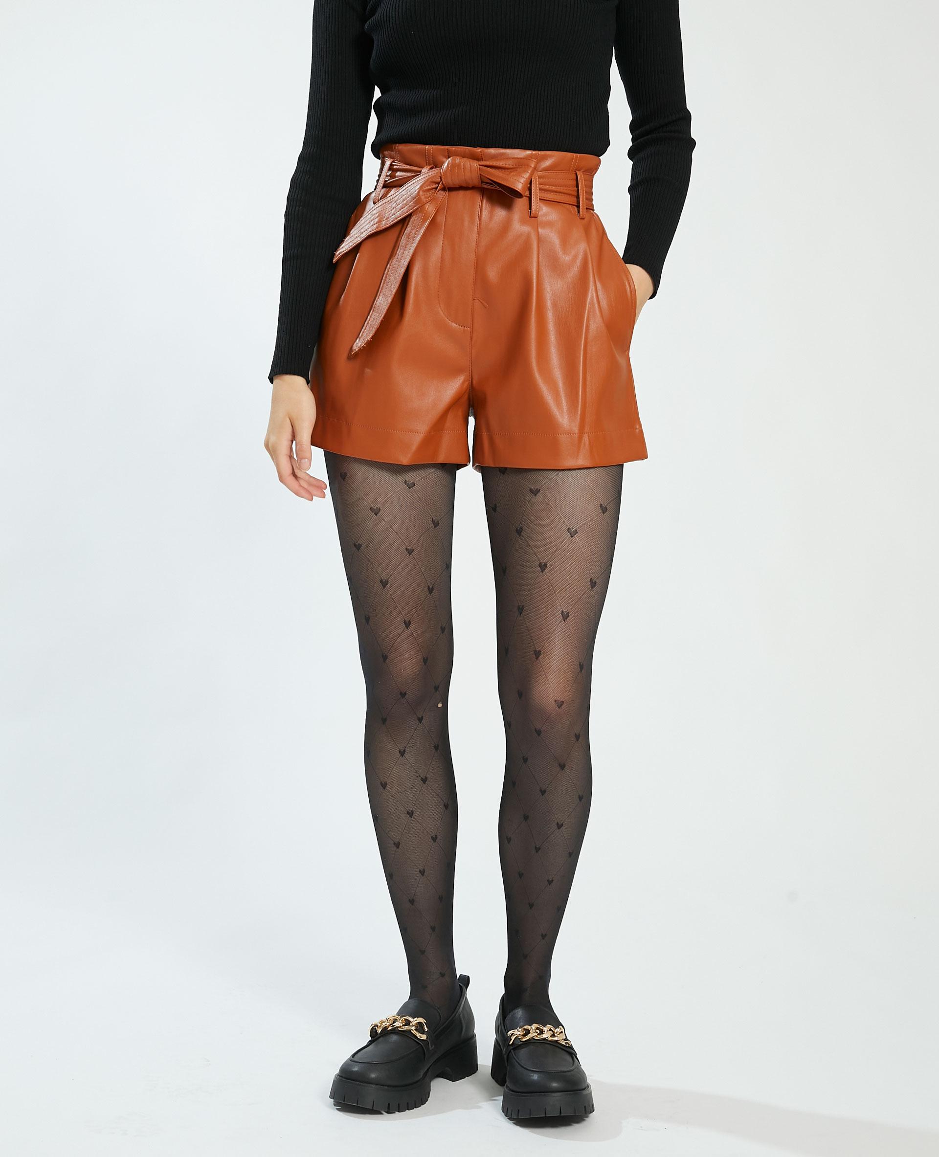 Short en simili cuir marron - Pimkie
