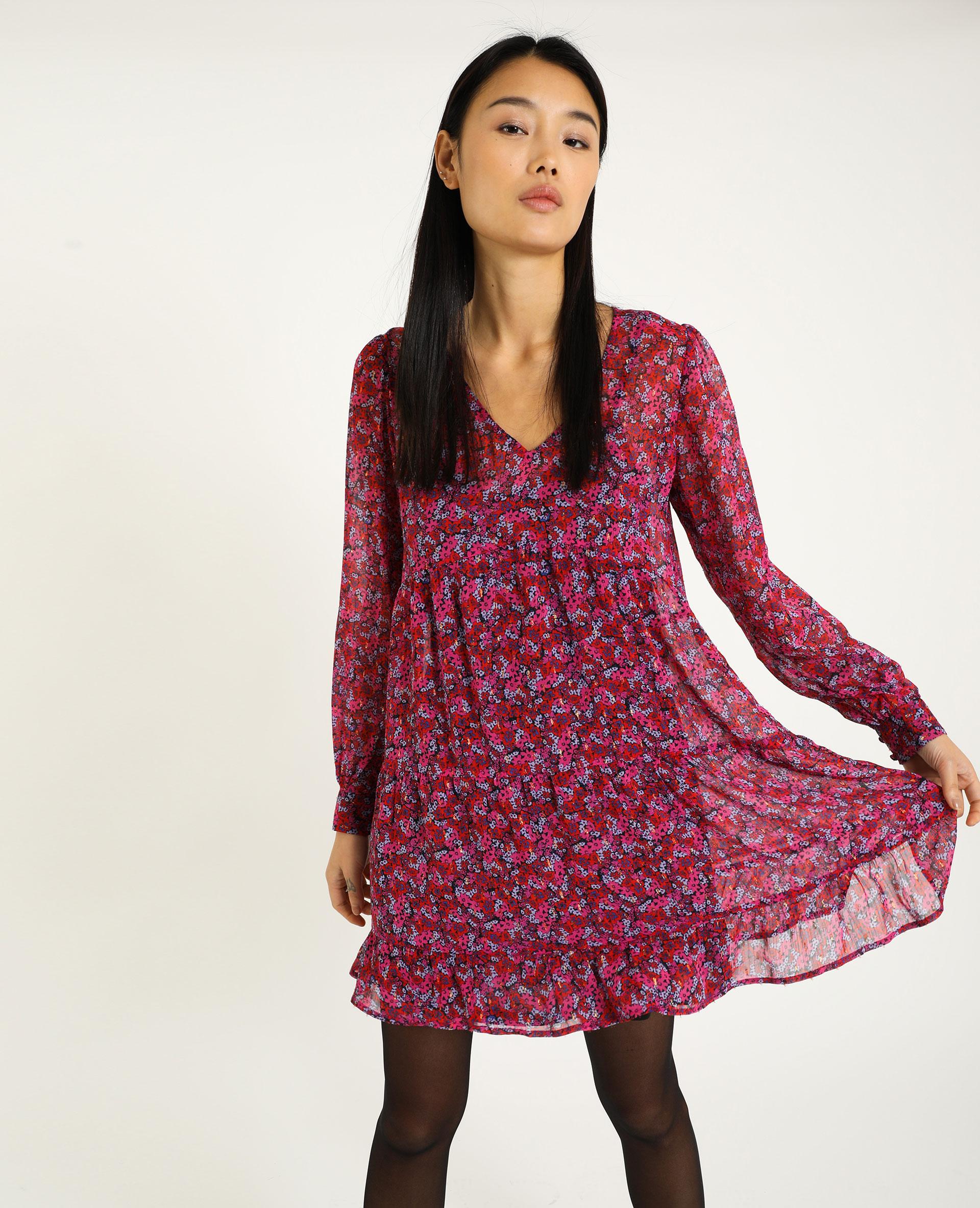 Robe courte à volants rose - Pimkie