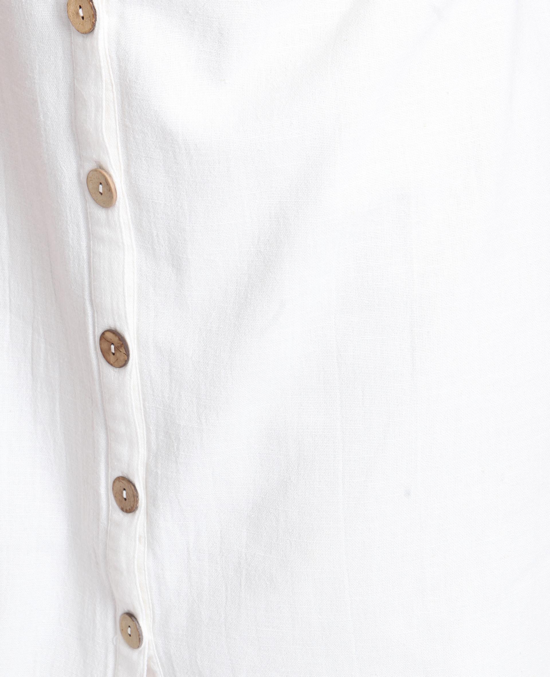 Robe boutonnée blanc cassé - Pimkie