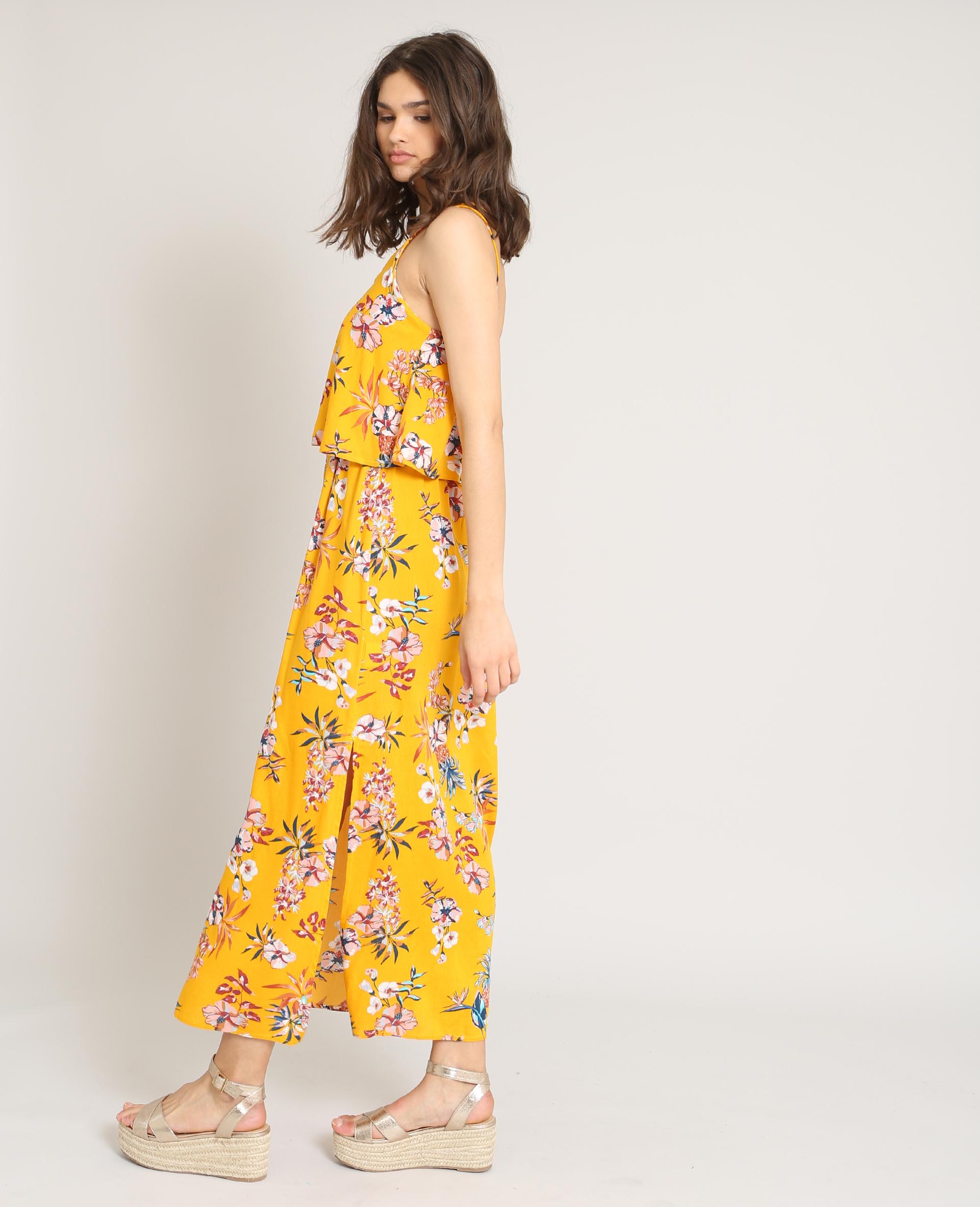 2af245228c7 Robe longue à fleurs jaune - 780870061E3A