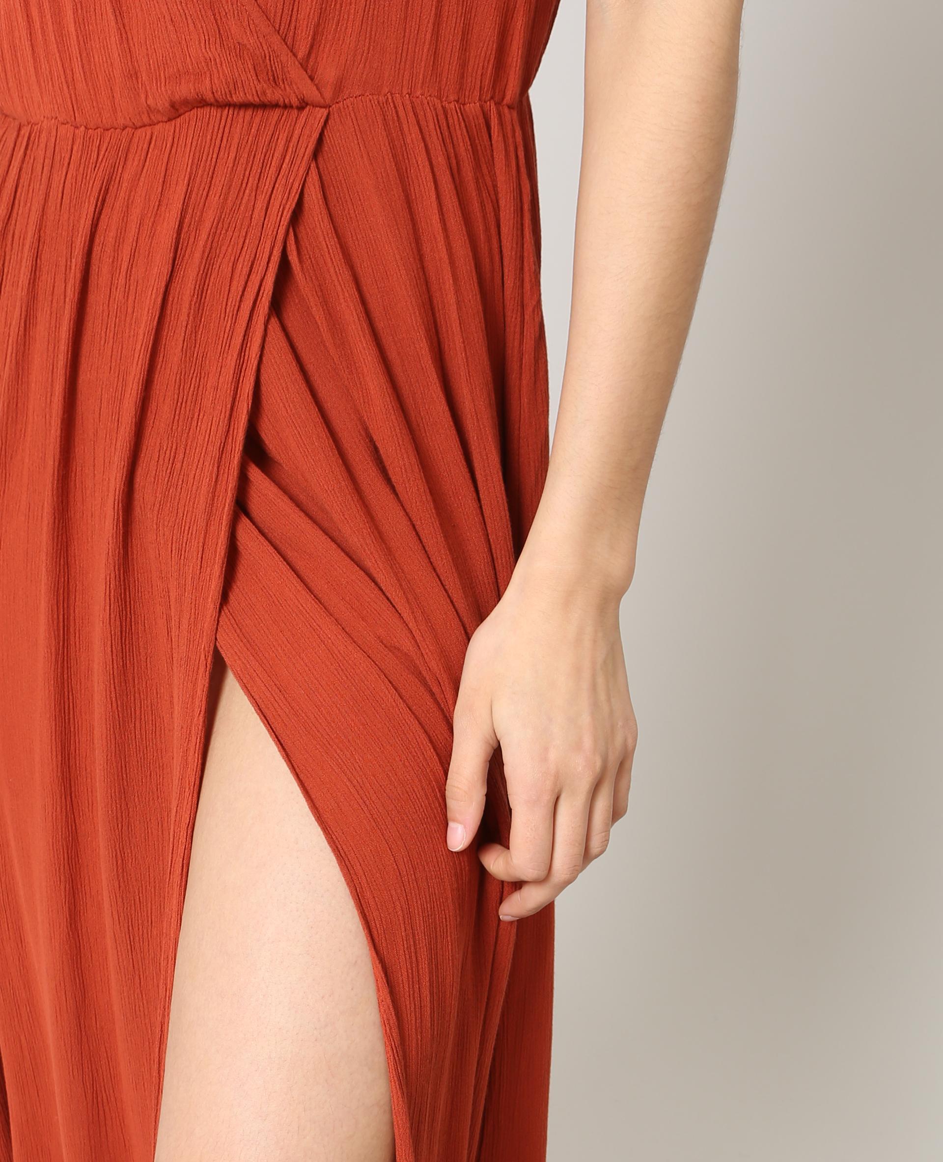 robe longue pimkie brique