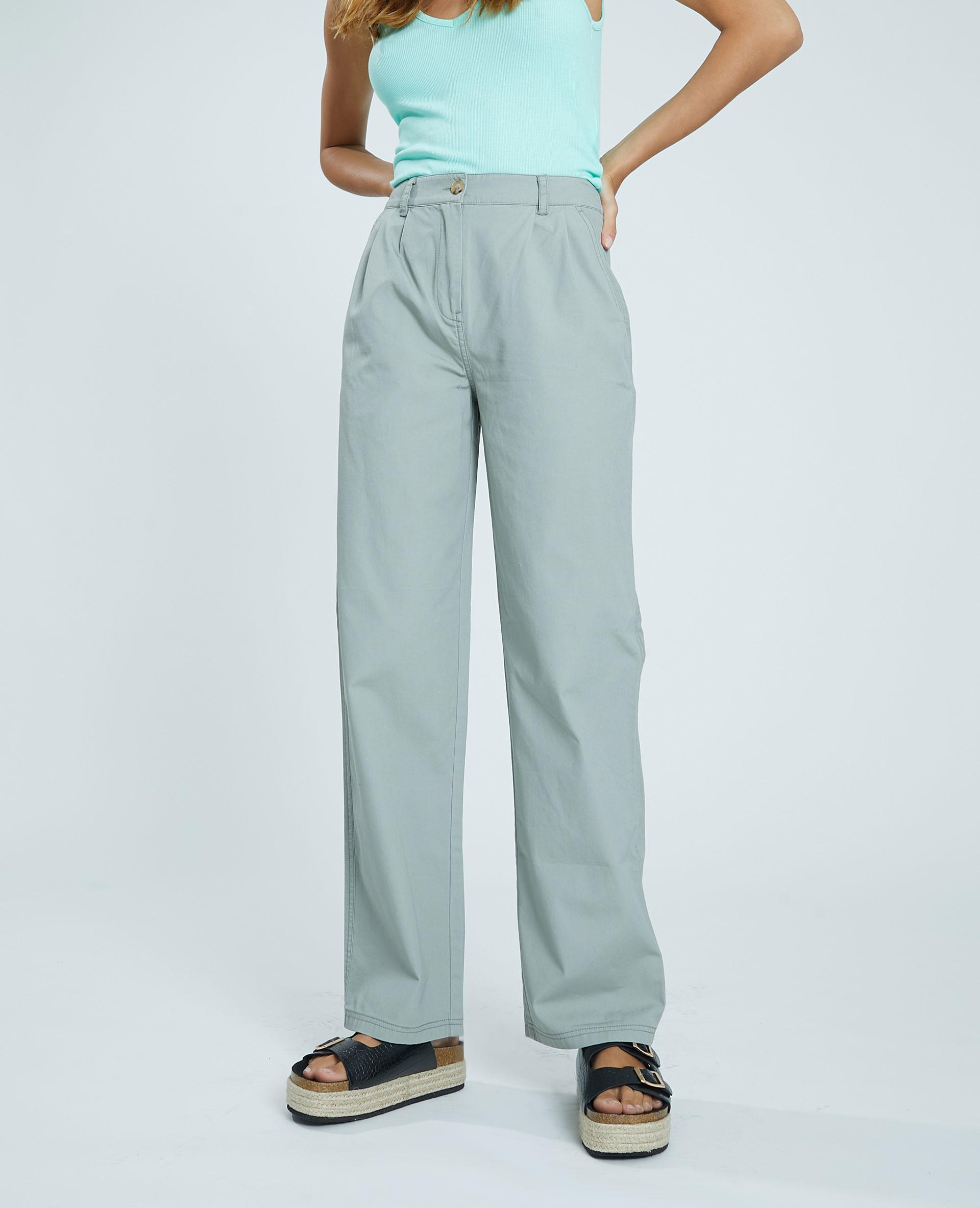 Pantalon en toile kaki - Pimkie
