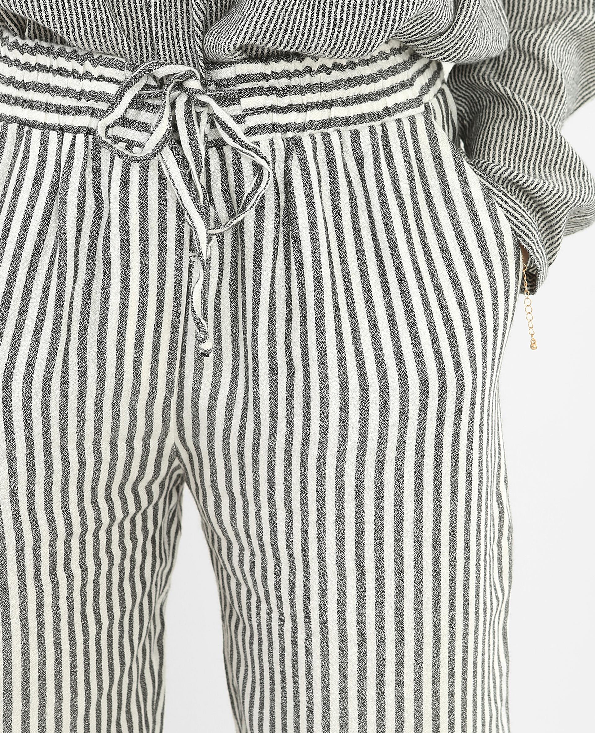 Pantalon rayé fluide blanc - Pimkie