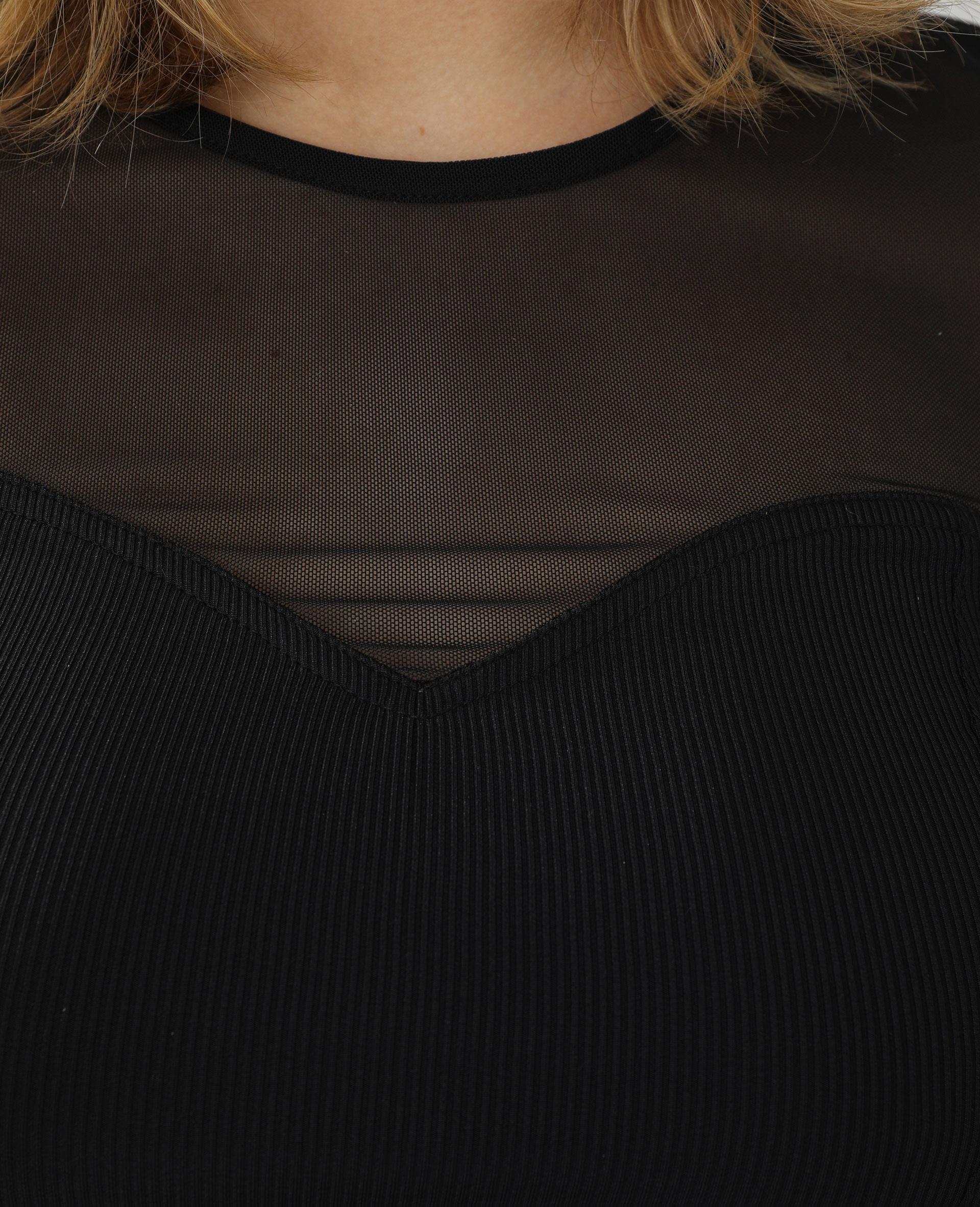 Top transparent asymétrique noir - Pimkie