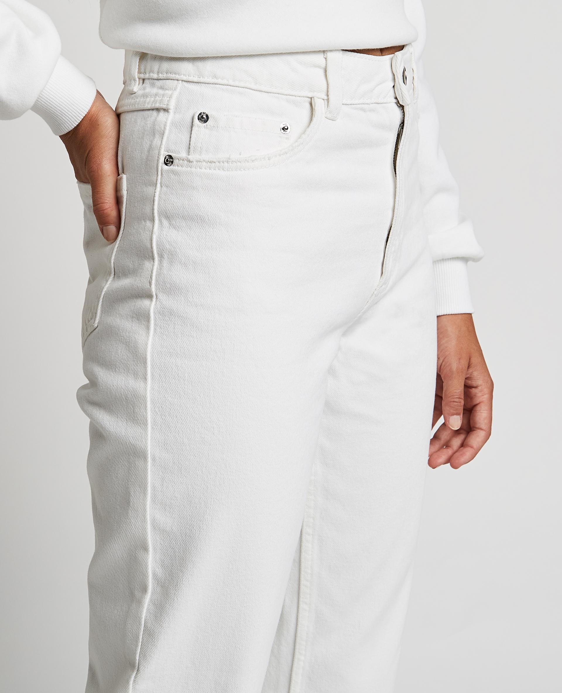 Jean straight taille haute blanc - Pimkie