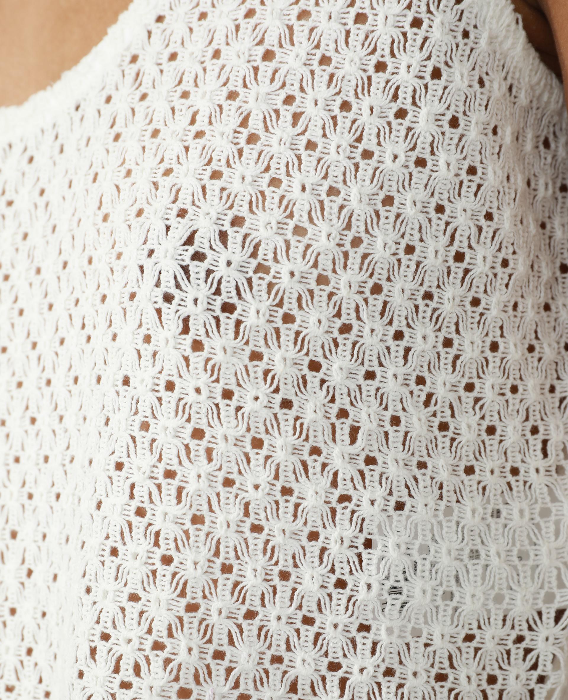Débardeur en crochet blanc cassé - Pimkie