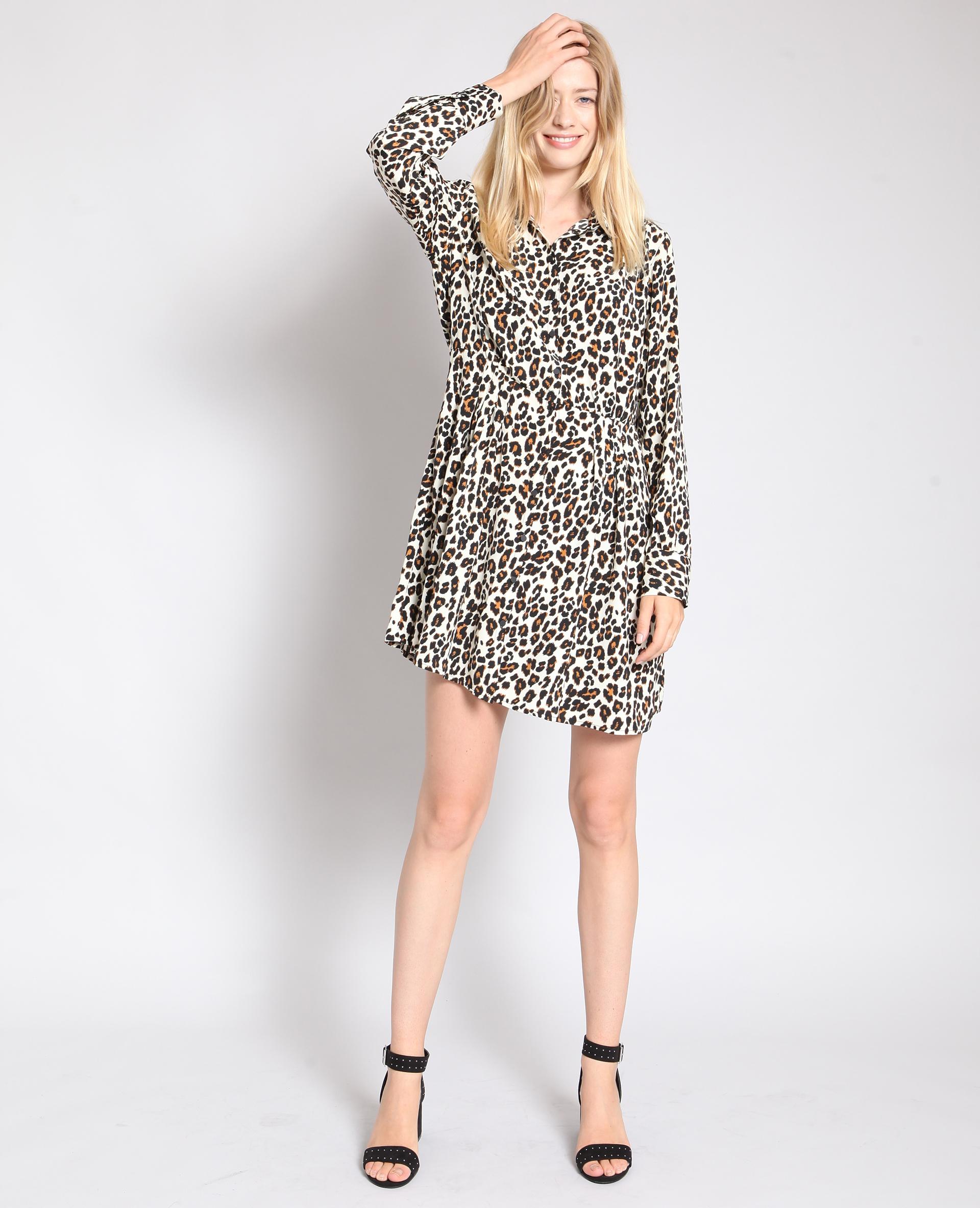 Robe imprimé léopard brun - Pimkie