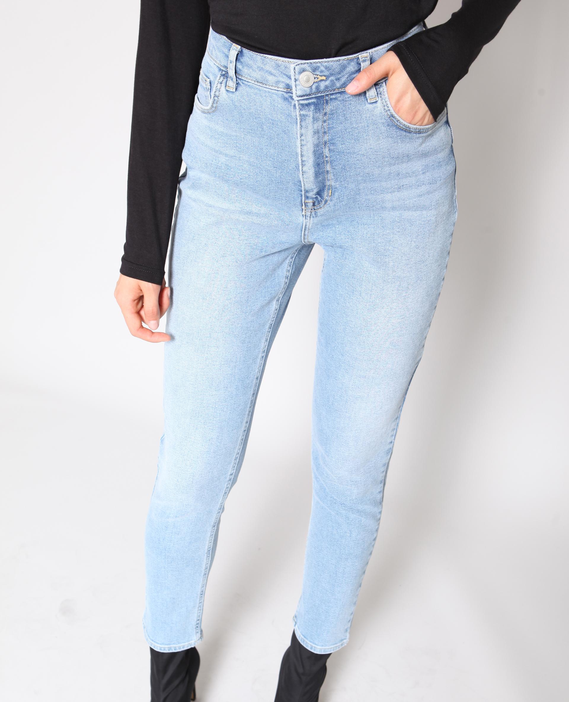 Jean slim taille haute bleu - Pimkie