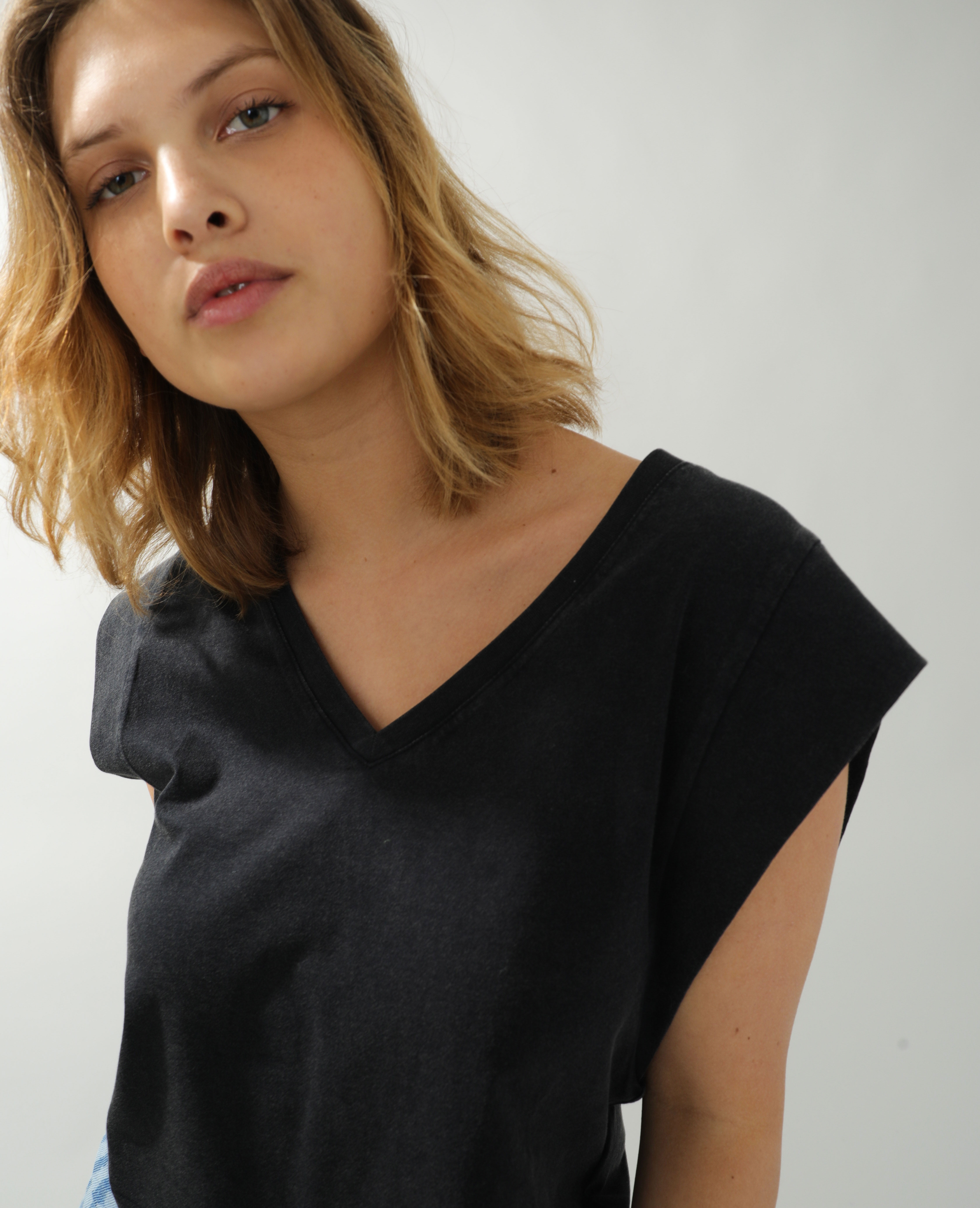 T-shirt ample gris anthracite - Pimkie