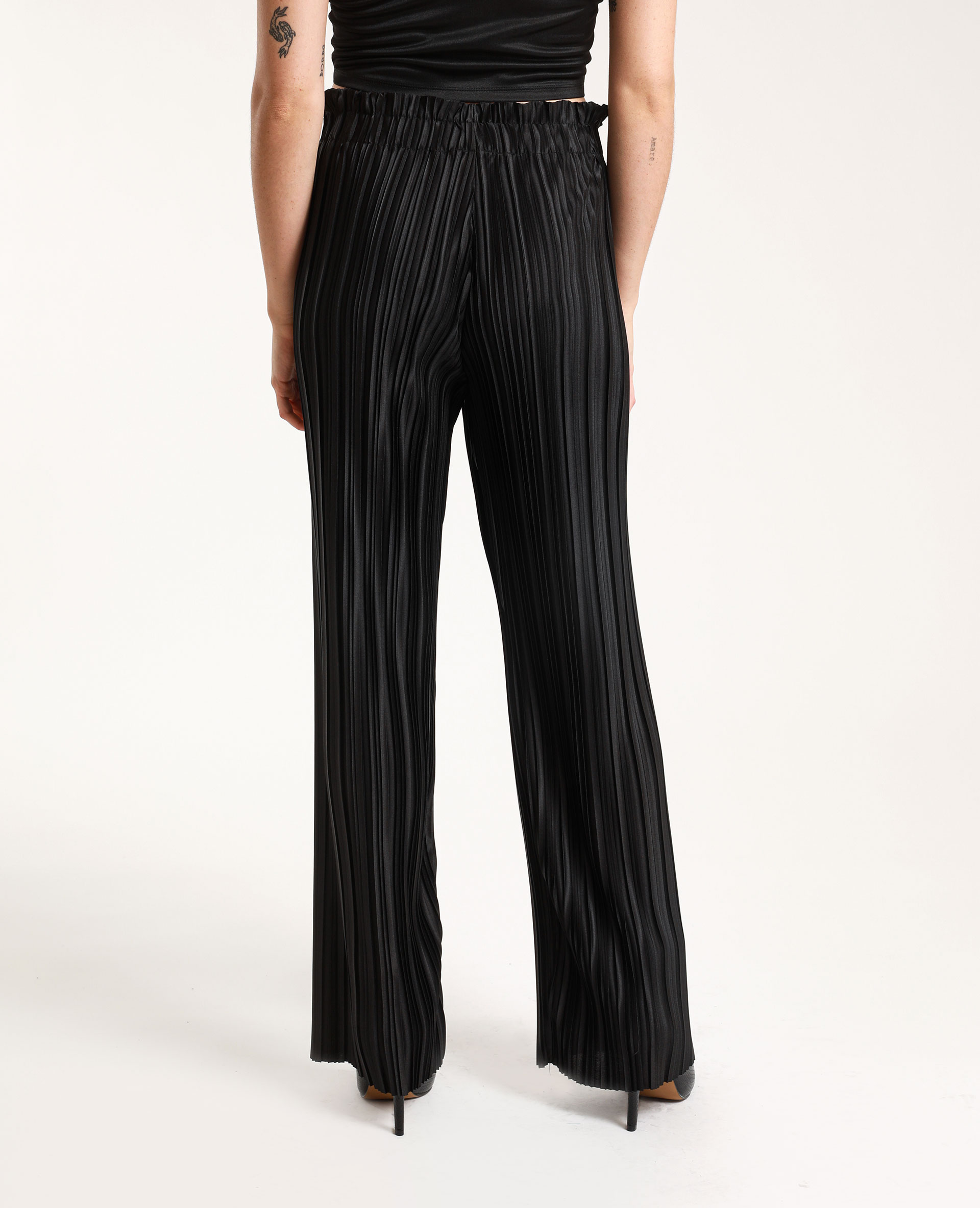 Pantalon plissé noir - Pimkie