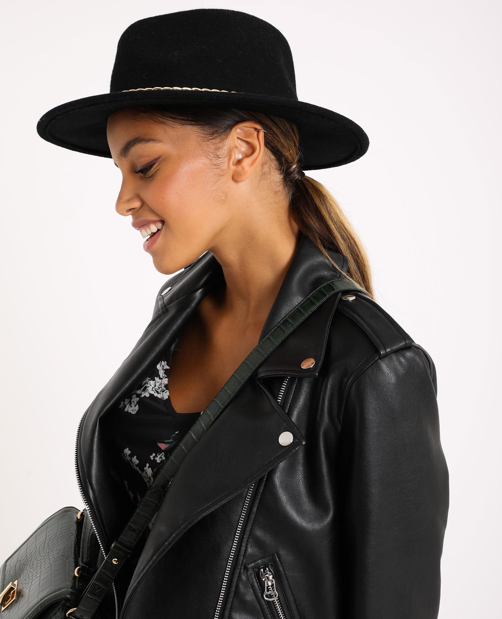 Chapeau en laine noir - Pimkie