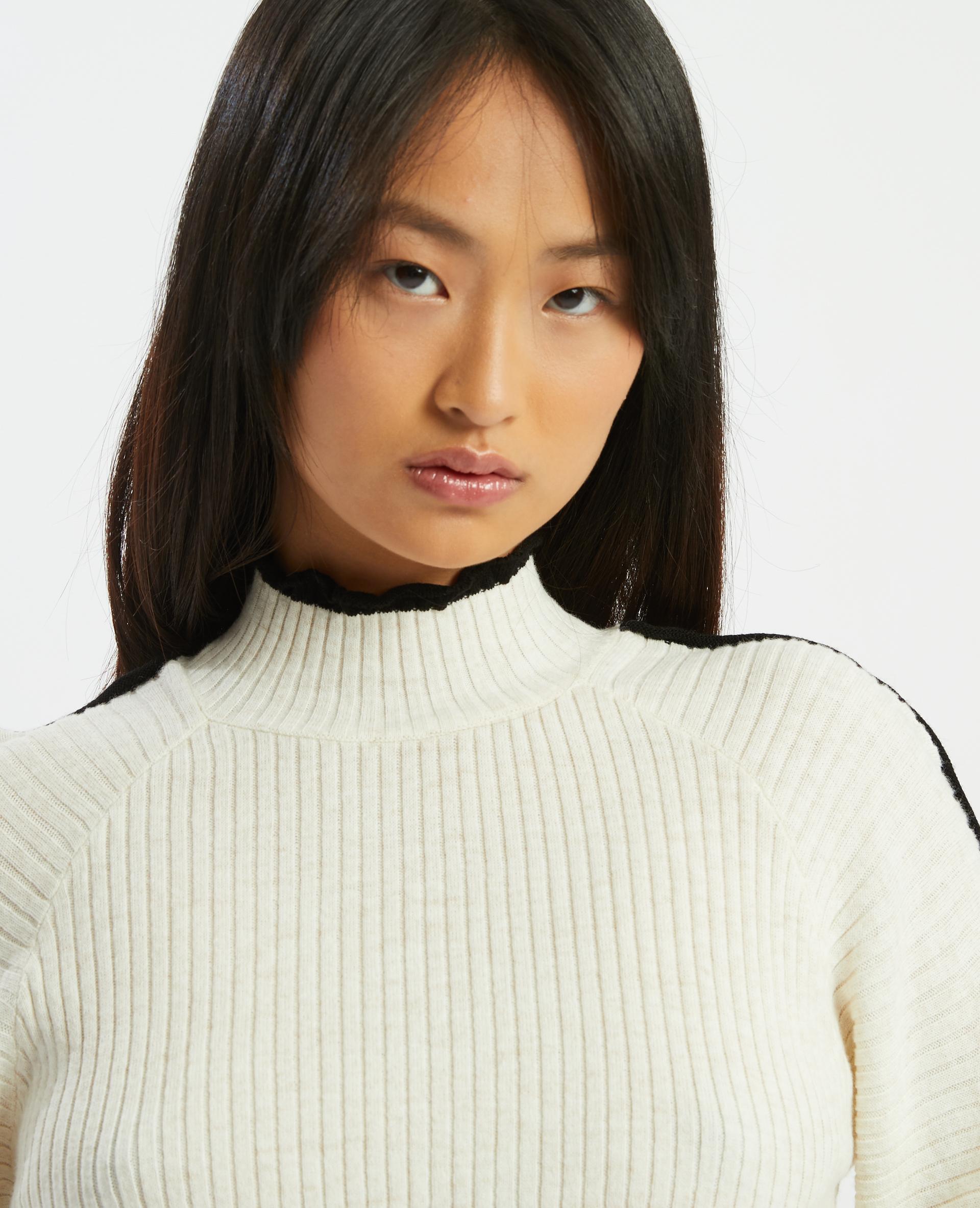 Pull à coutures apparentes blanc cassé - Pimkie